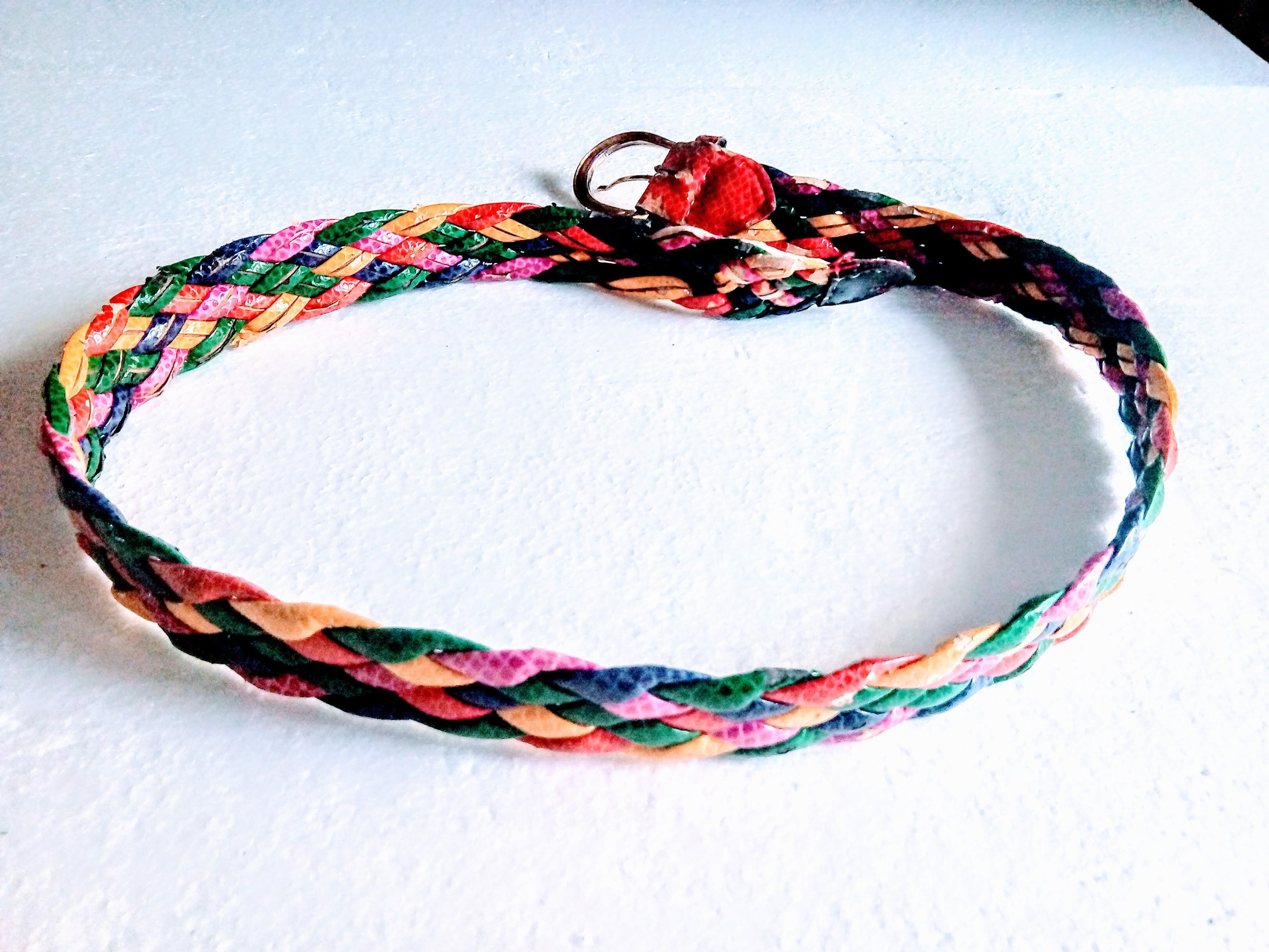 troc de troc ceinture tressÉe multicolore image 2
