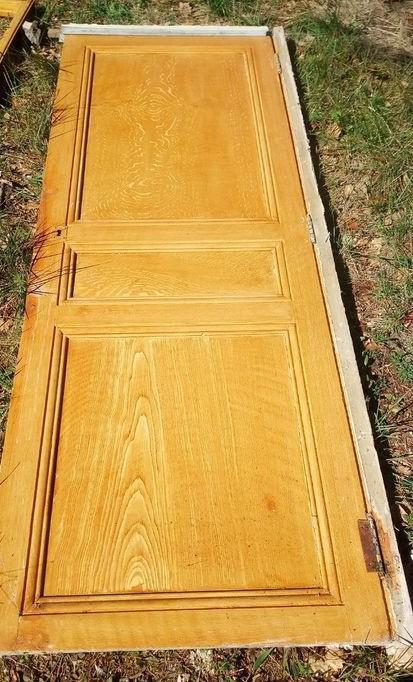 troc de troc porte anccienne d'interieur bois massif image 0