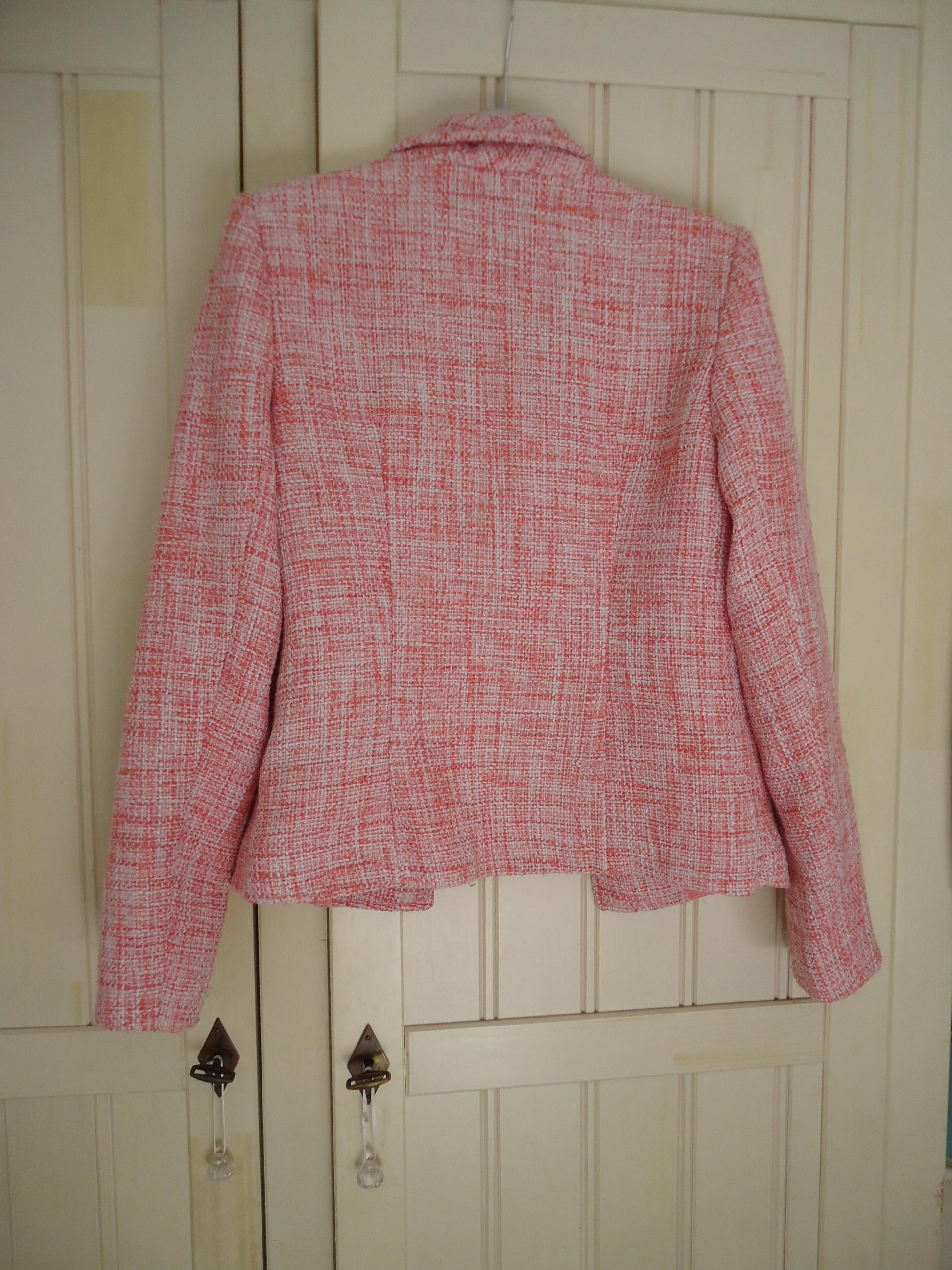 troc de troc veste tailleur rose chinée taille 38 image 1