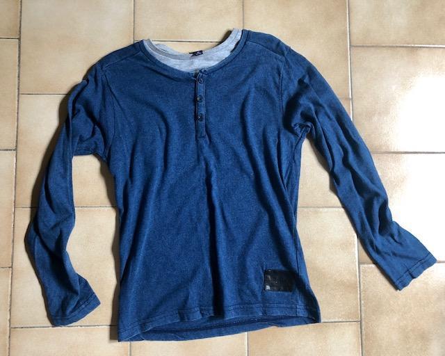 troc de troc t-shirt manches longues bleu gris 8 ans image 0