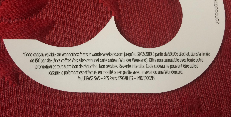 troc de troc code de réduction sur wonderbox.fr et wonderweekend.com image 1