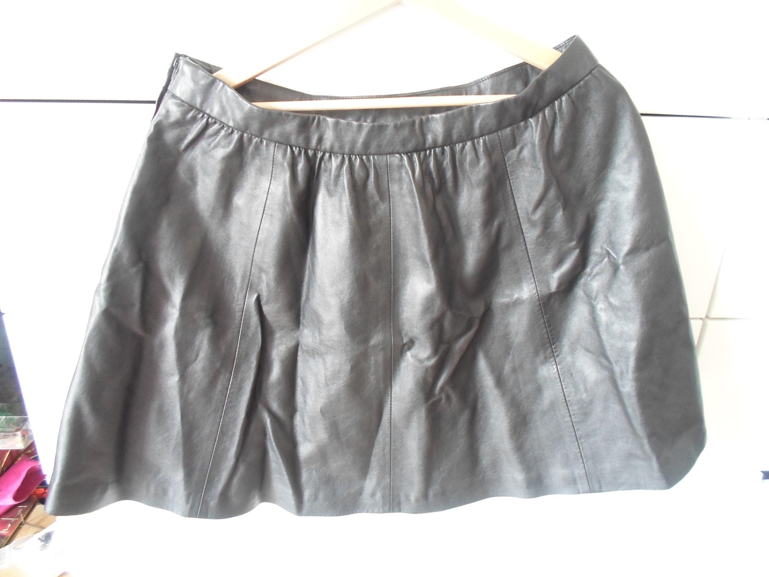 troc de troc jupe noire style cuir image 0