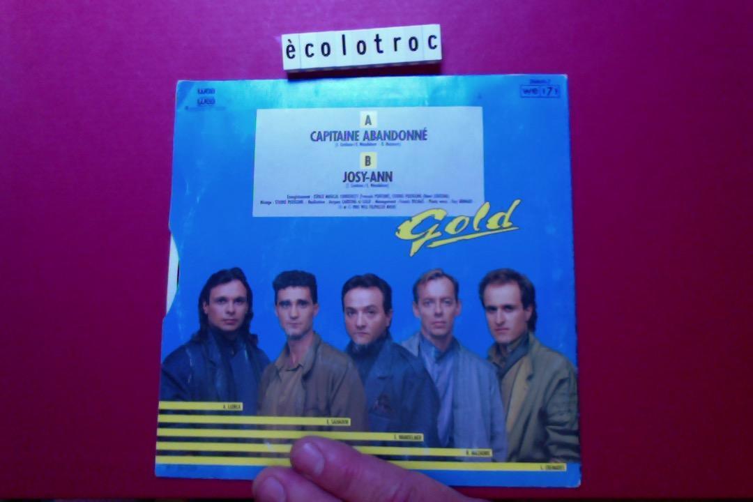 troc de troc port compris - disque vinyle 45 tours - gold capitaine abandonné image 1