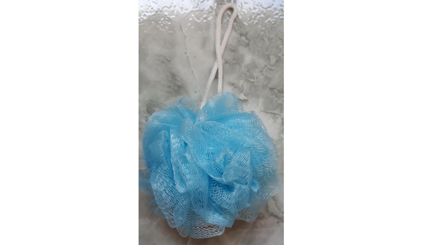 troc de troc eponge fleur de bain bleue ciel image 0