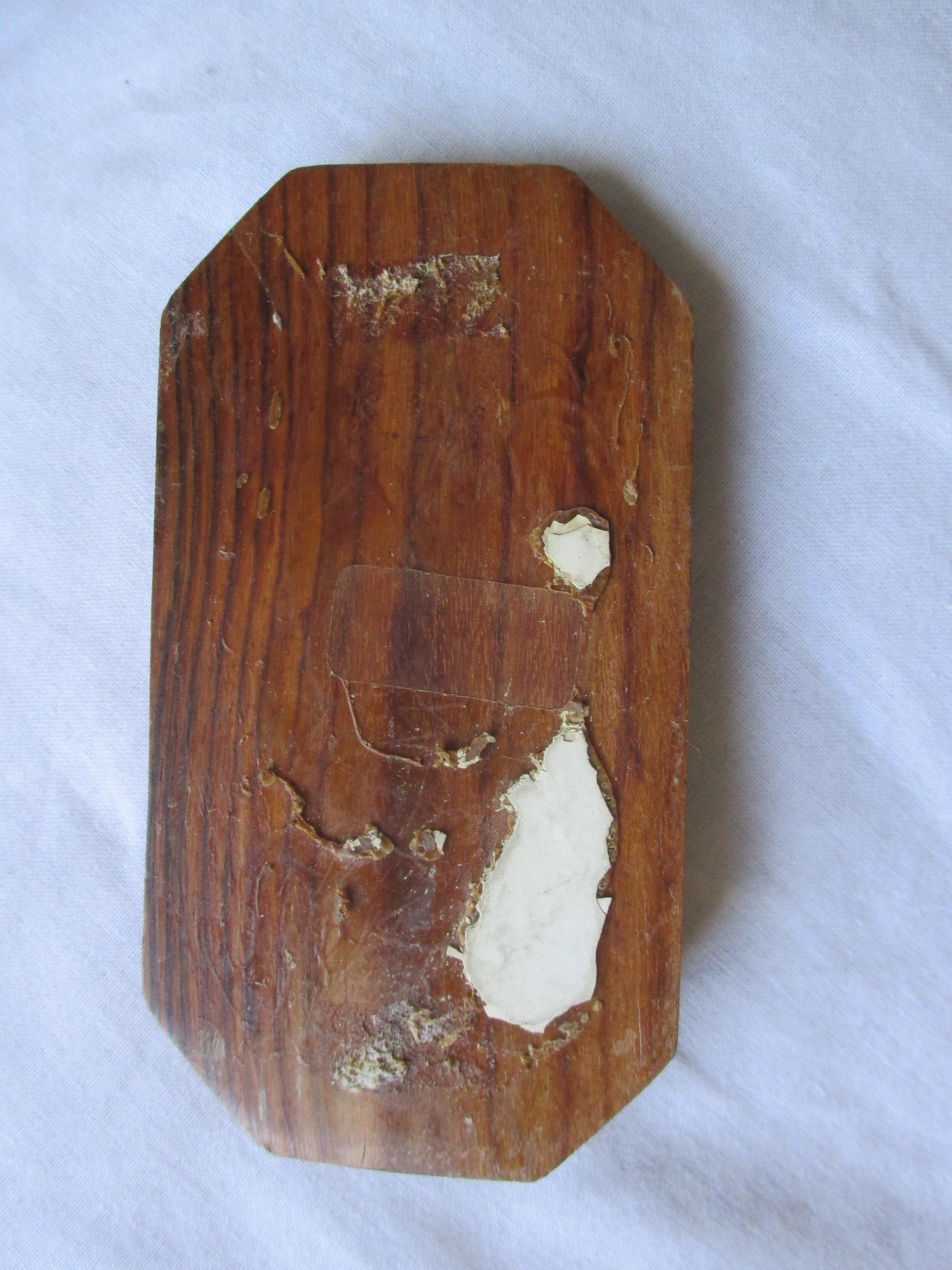 """troc de troc à lyon = plaque de porte """"salle de bain"""" en bois image 2"""