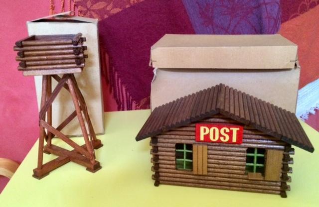 troc de troc vintage: jouet bois village farwest image 2