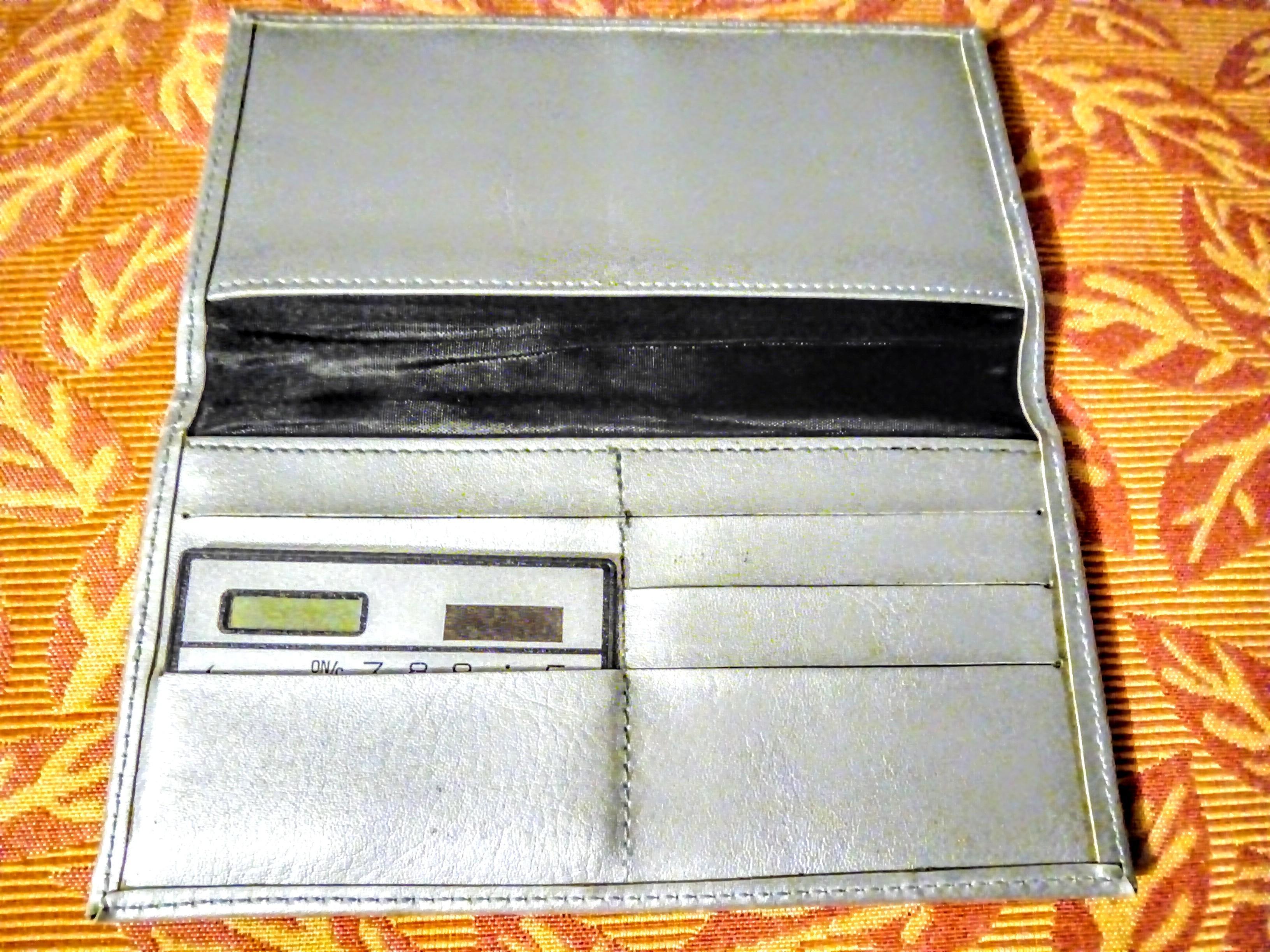 troc de troc réservé: portefeuille/cartes neuf avec calculatrice solaire image 2