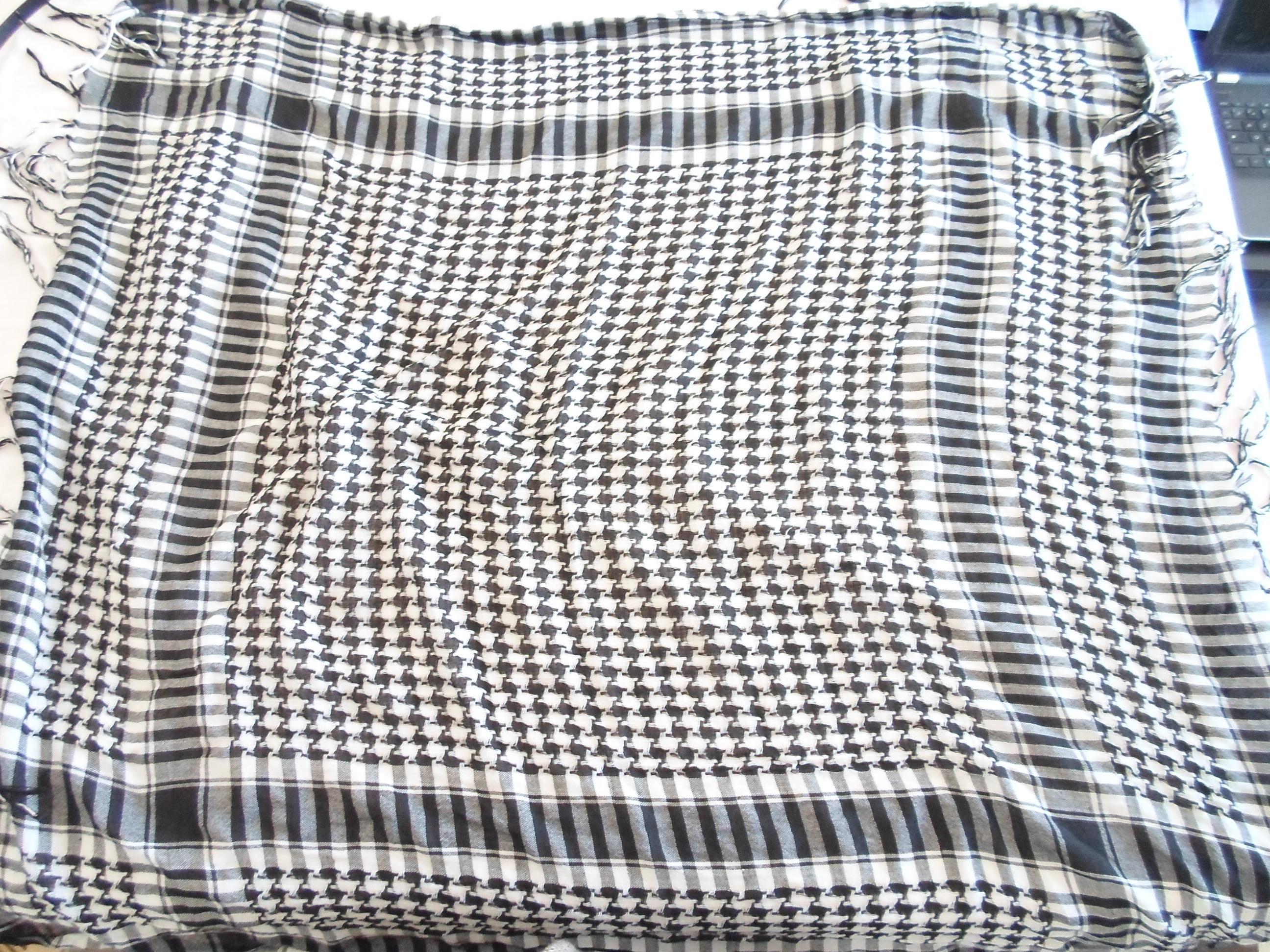 troc de troc echarpe noire et blanche image 0