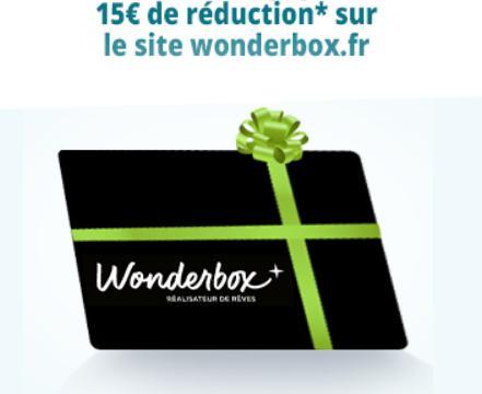 troc de troc bon 15 euros réduction sur wonderbox - validité 31/12/21 image 0