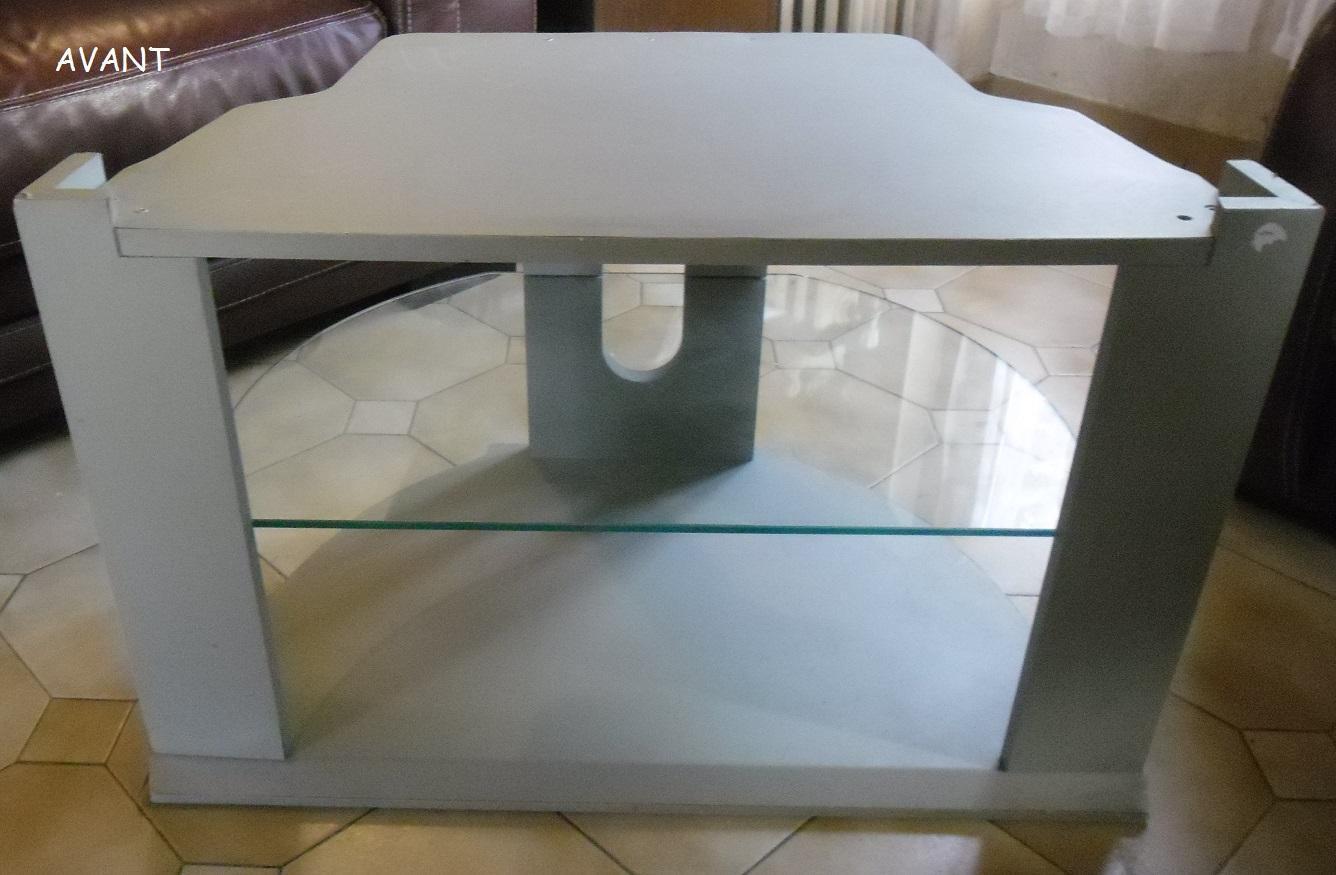 troc de troc meuble télé avec une plaque en verre image 0