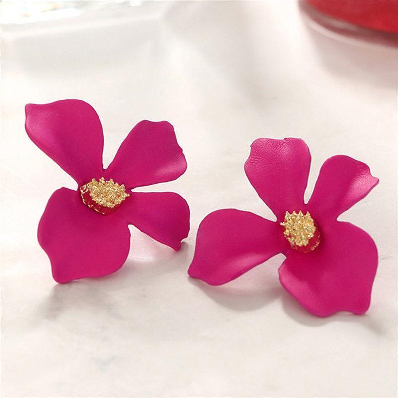 """troc de troc boucles d'oreilles """"  fleurs de bohème """" rose image 1"""