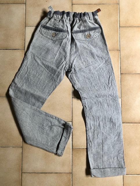 troc de troc pantalon lin gris 7 ans image 1