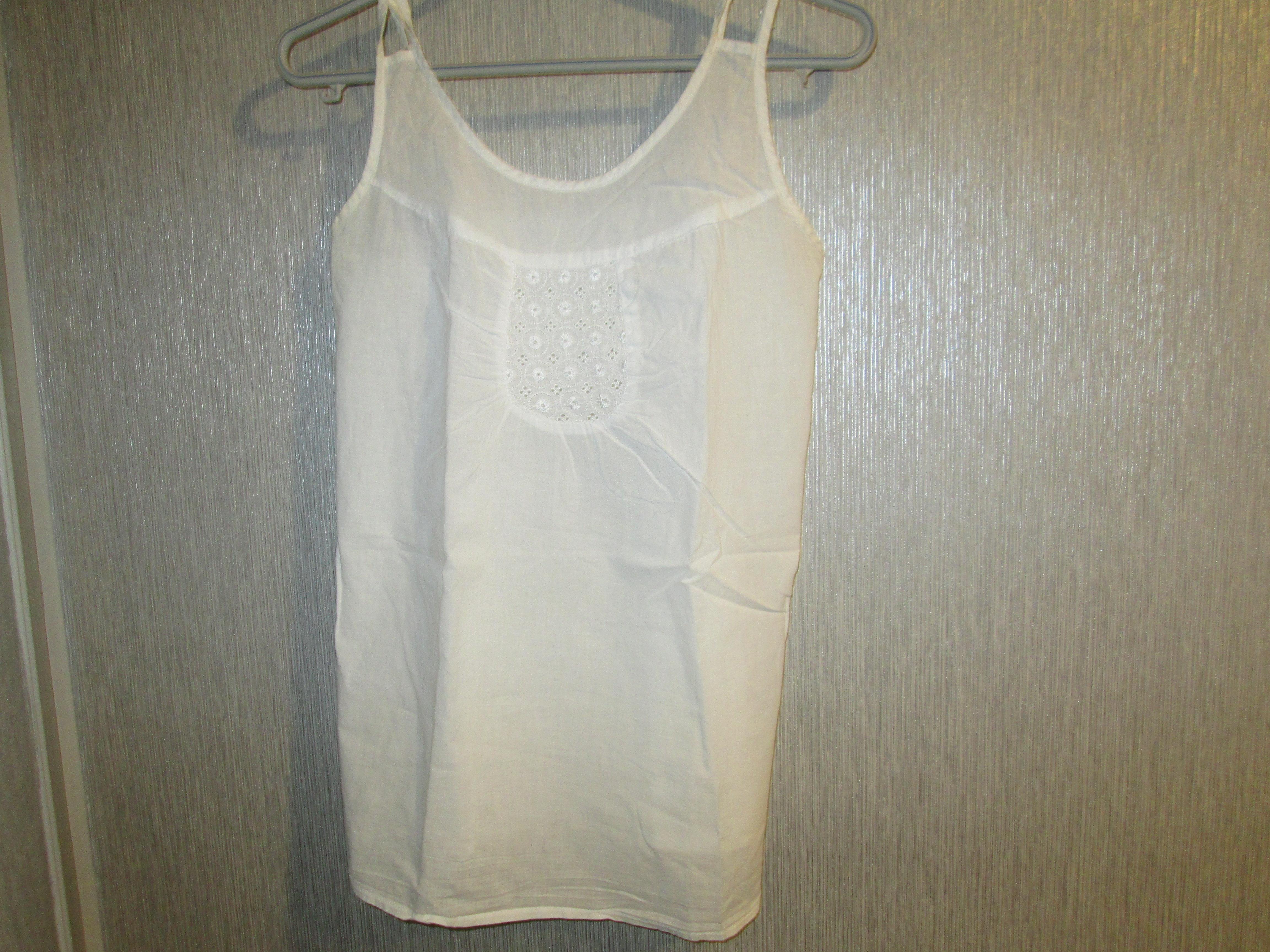 troc de troc chemisier blanc retro taille 40/42  6 noisettes image 0