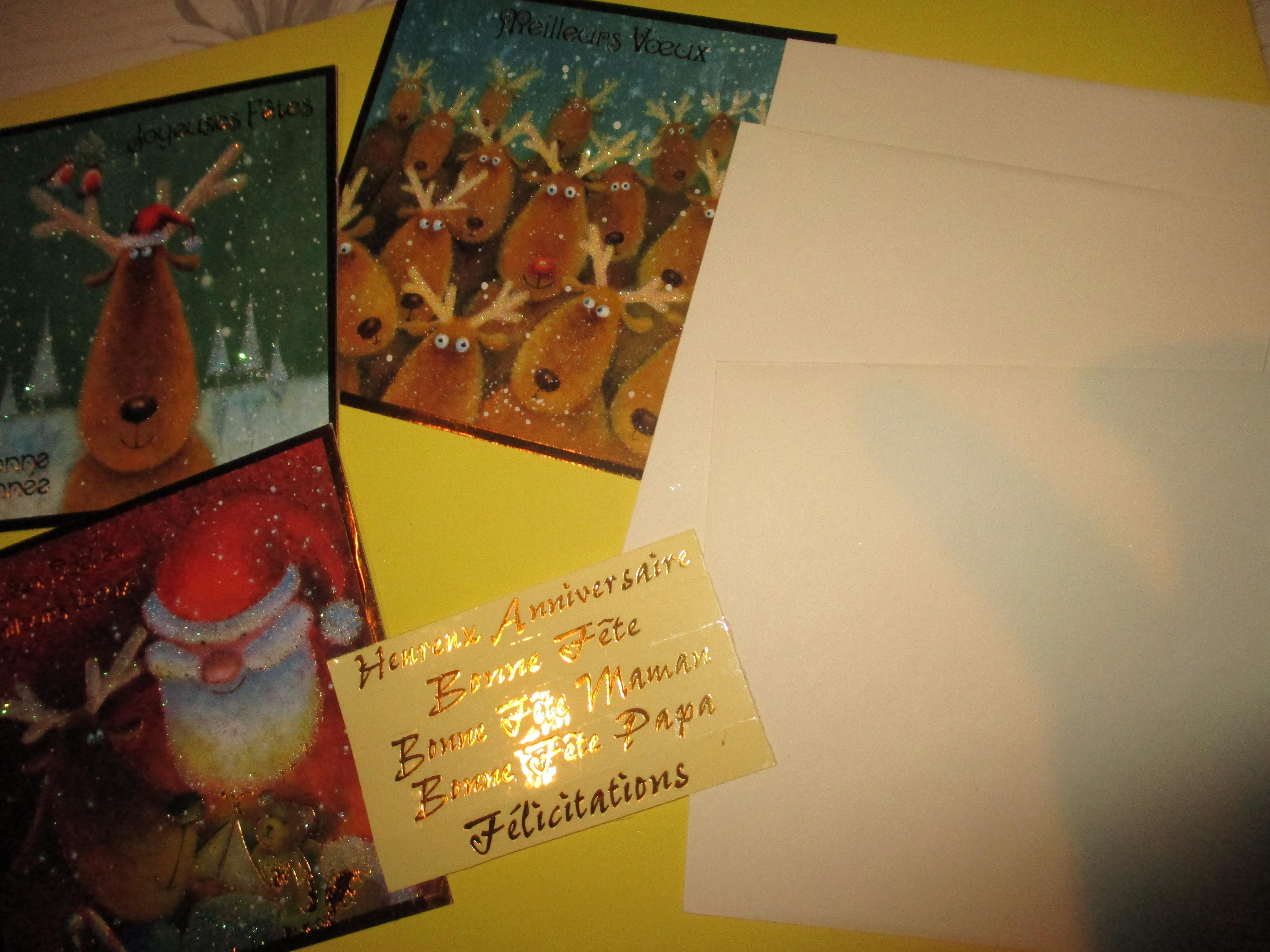 troc de troc 3 cartes de voeux avec 3 enveloppes image 1