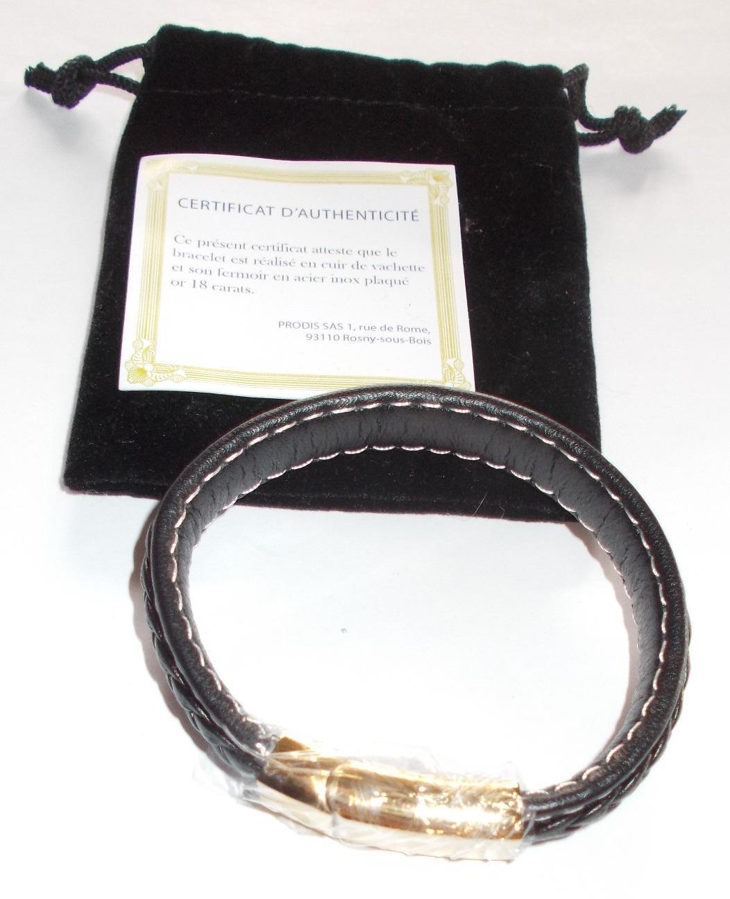 troc de troc réservé - bracelet en cuir noir image 0