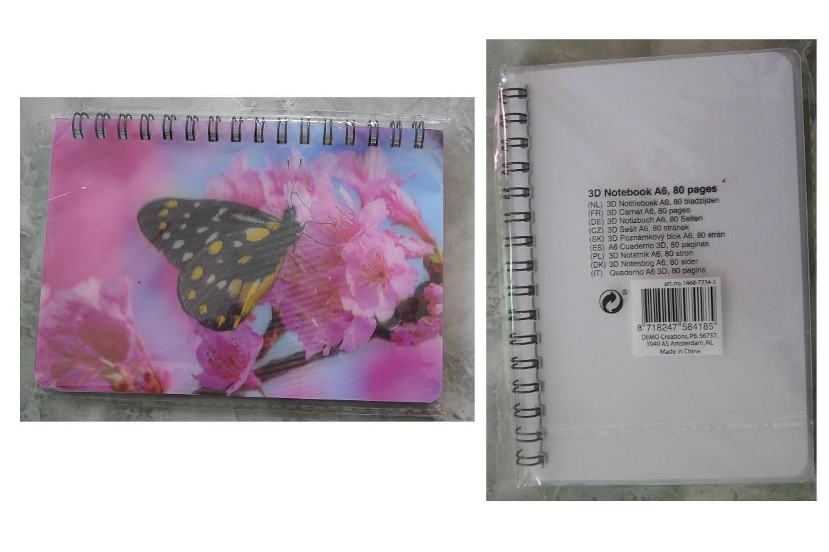 troc de troc réservé 6/11 à astronomia - petit carnet 80 p papillon en relief image 0