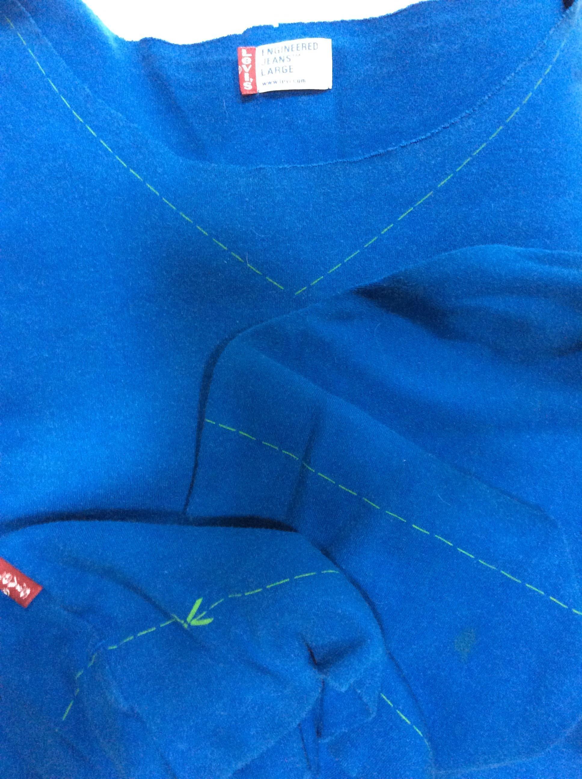 troc de troc t shirt levi's engineering jeans large années 90 manches longues image 1