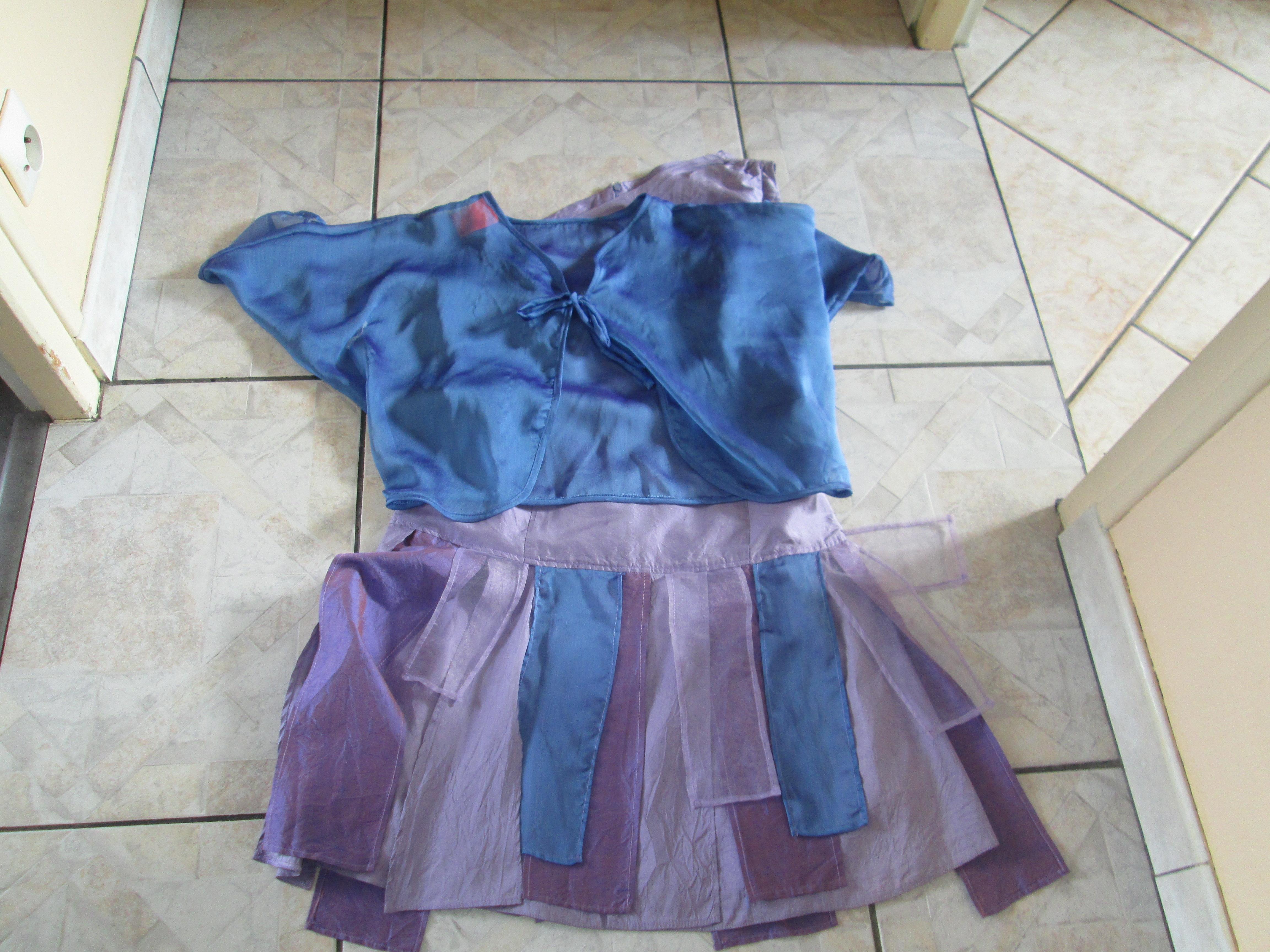 troc de troc robe en soie creation unique taille 40/42 avec son bolero image 1