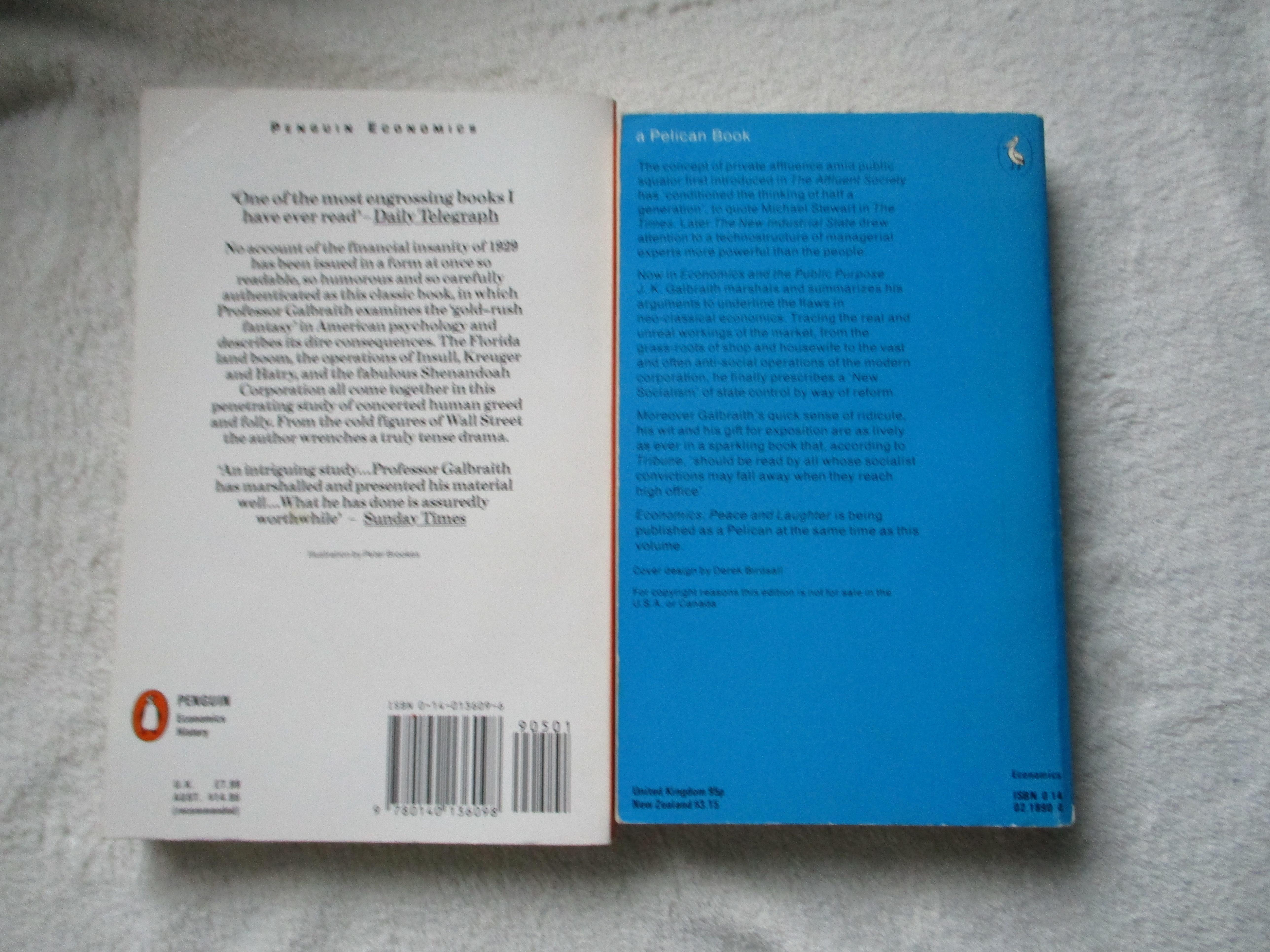 troc de troc 2 livres en anglais de galbraith l'économiste image 1