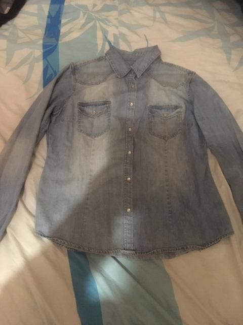 troc de troc réservé nonore13 chemise bleu jean délavé taille 42 image 0