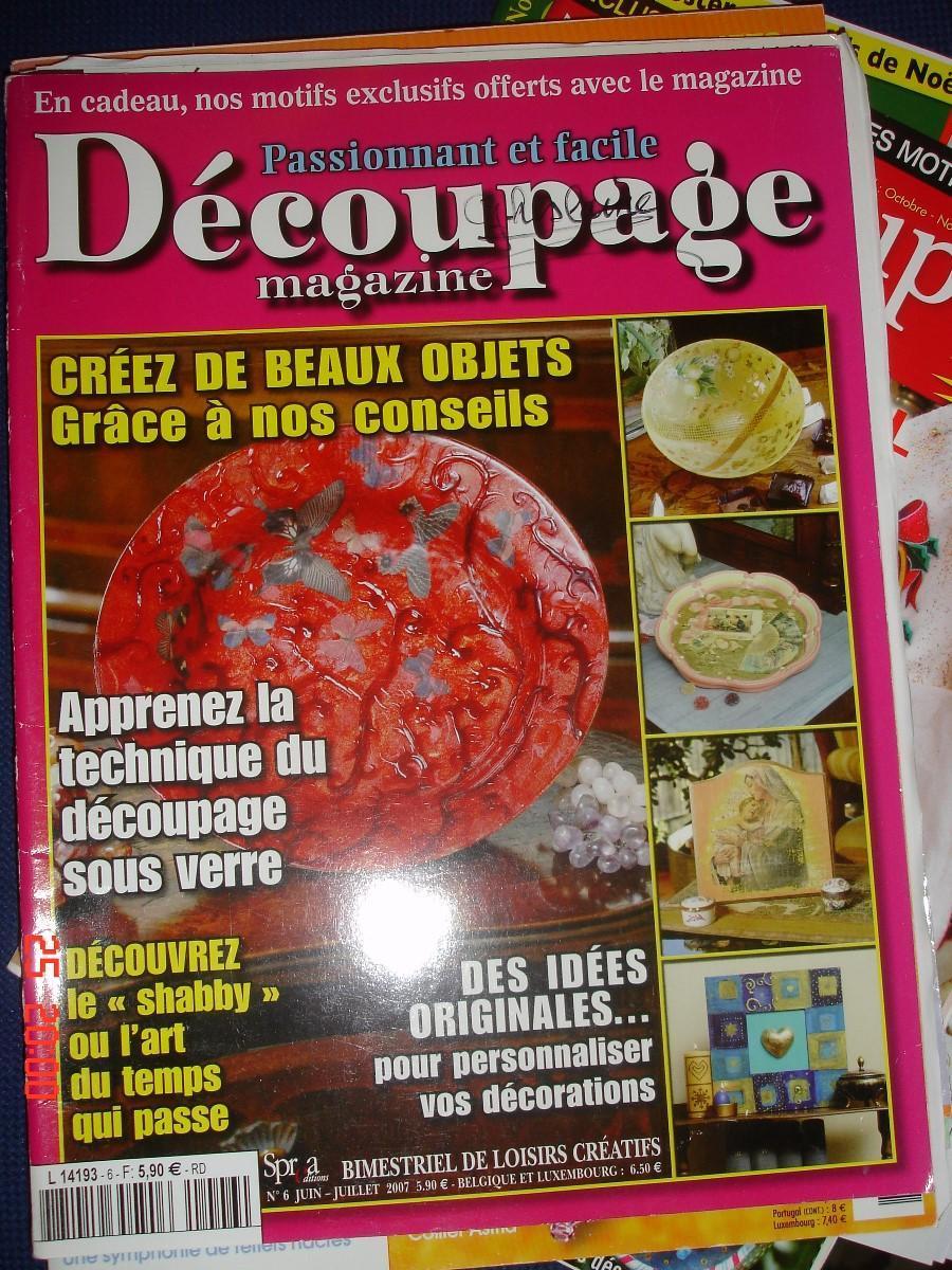 troc de troc magazine crÉations : dÉcoupage sous verre shabby idées originales image 0