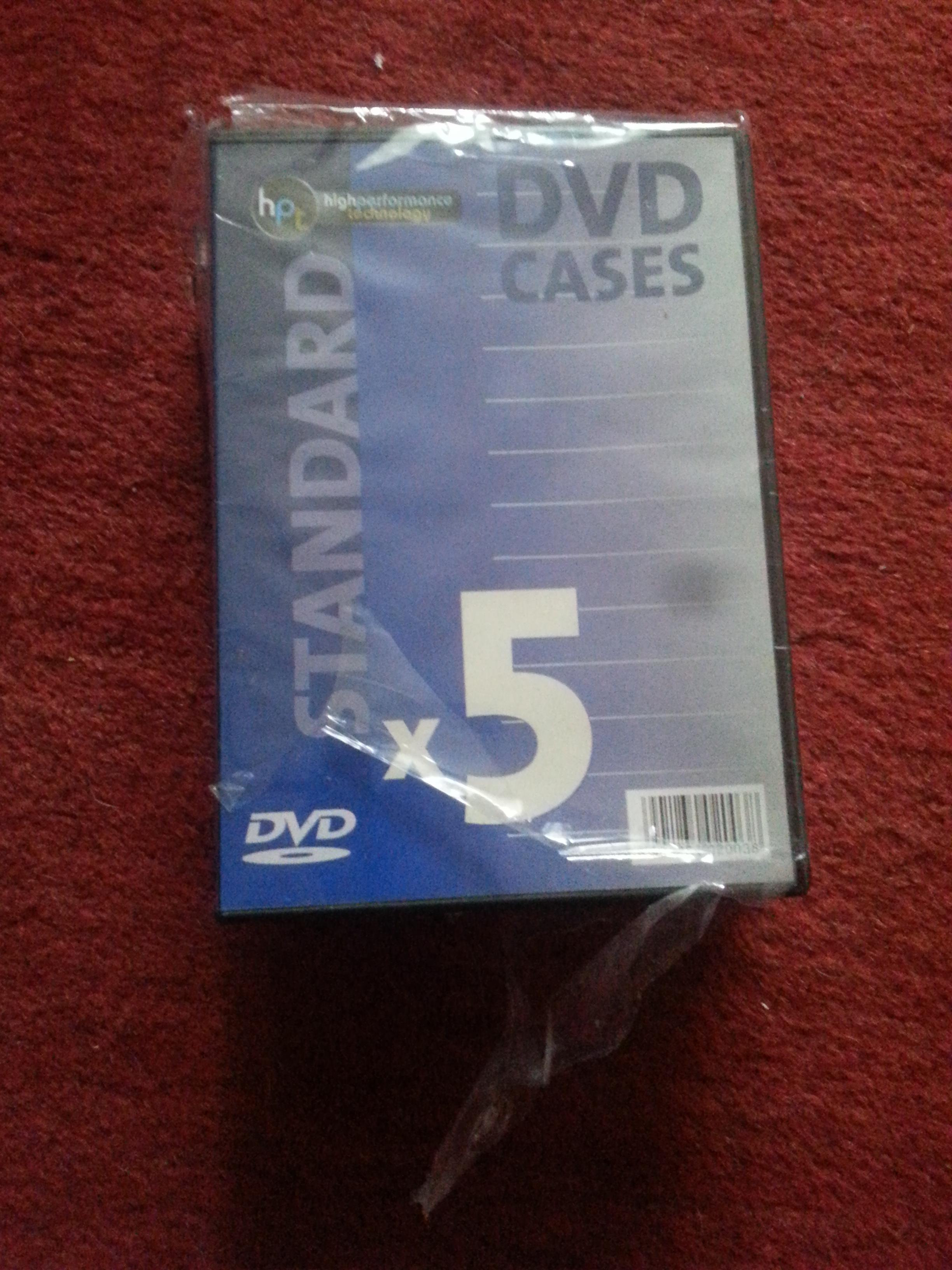 troc de troc lot de 5 boites pour dvd (neuf) lot de 5 boîtes pour dvd. produit image 0