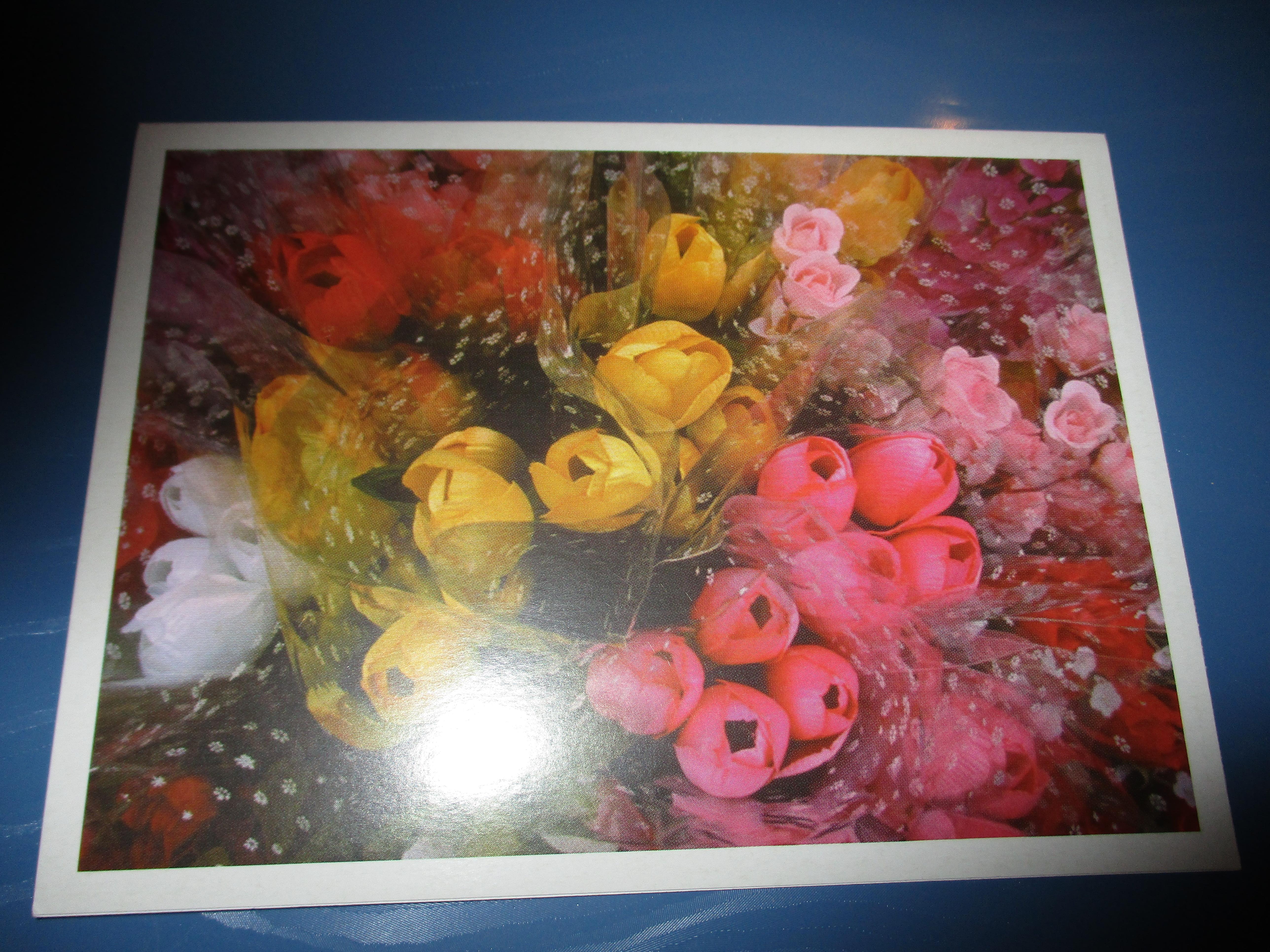 troc de troc carte double neuve bouquet de tulipes image 0