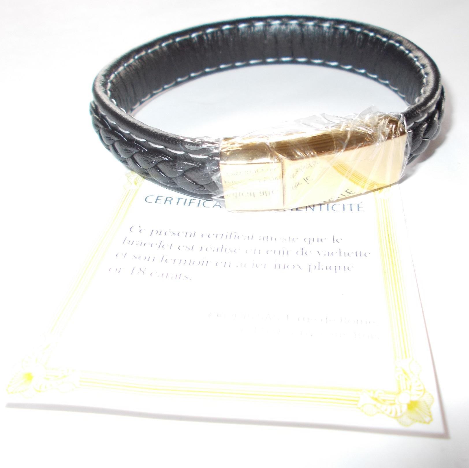 troc de troc réservé - bracelet en cuir noir image 1
