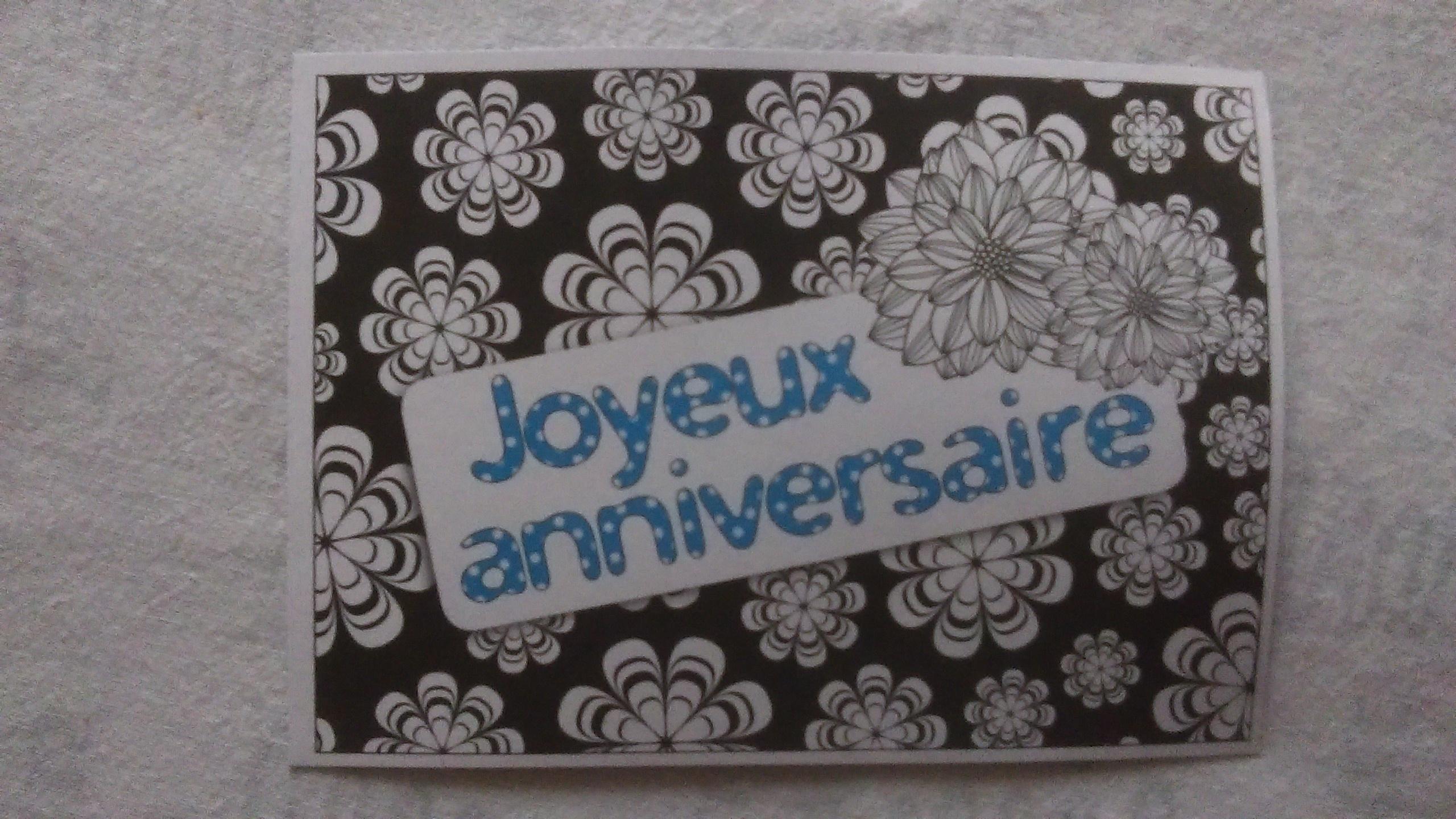 """troc de troc carte """"joyeux anniversaire"""". image 0"""