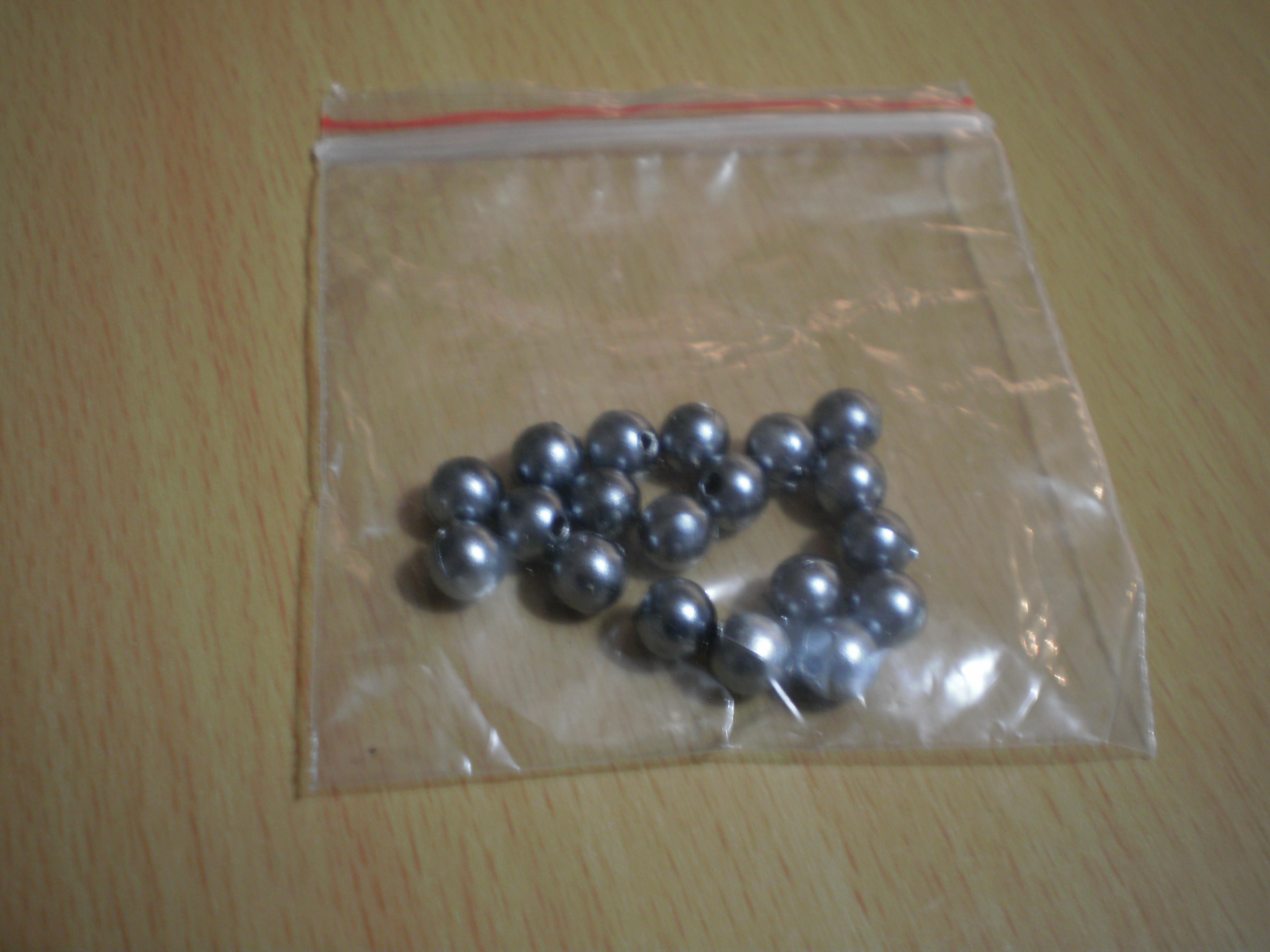 troc de troc 20 perles grises nves image 0