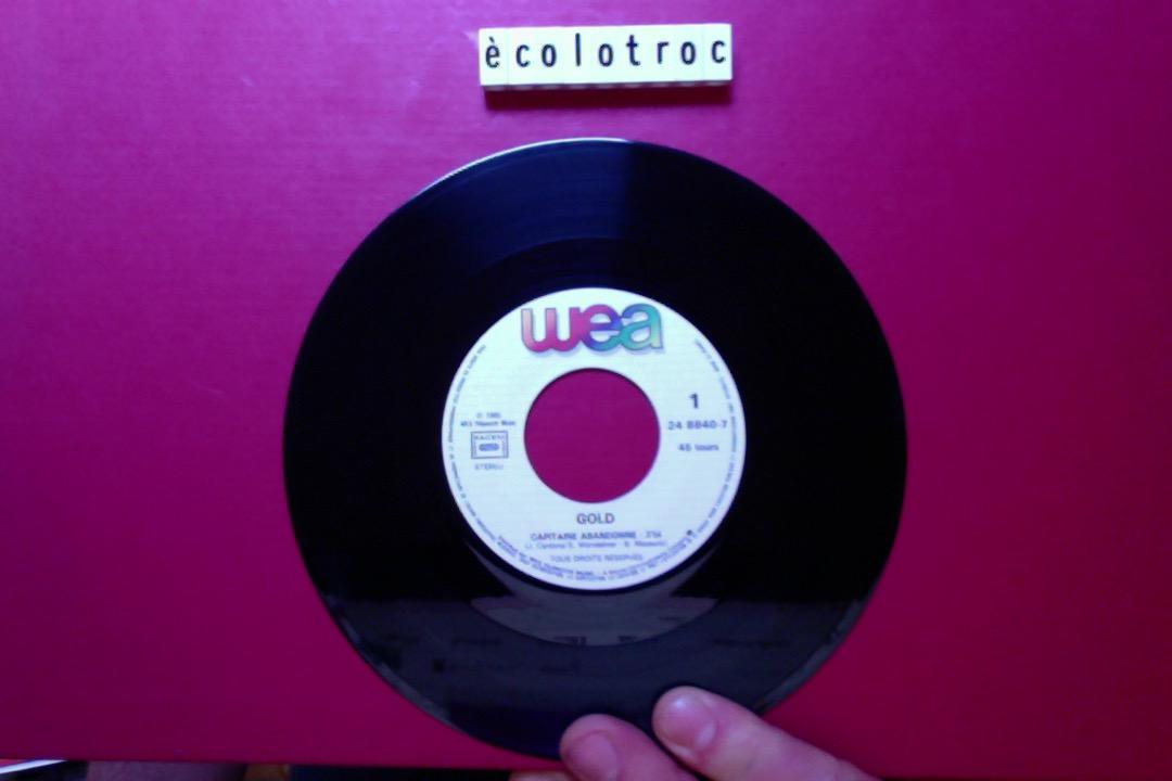 troc de troc port compris - disque vinyle 45 tours - gold capitaine abandonné image 2