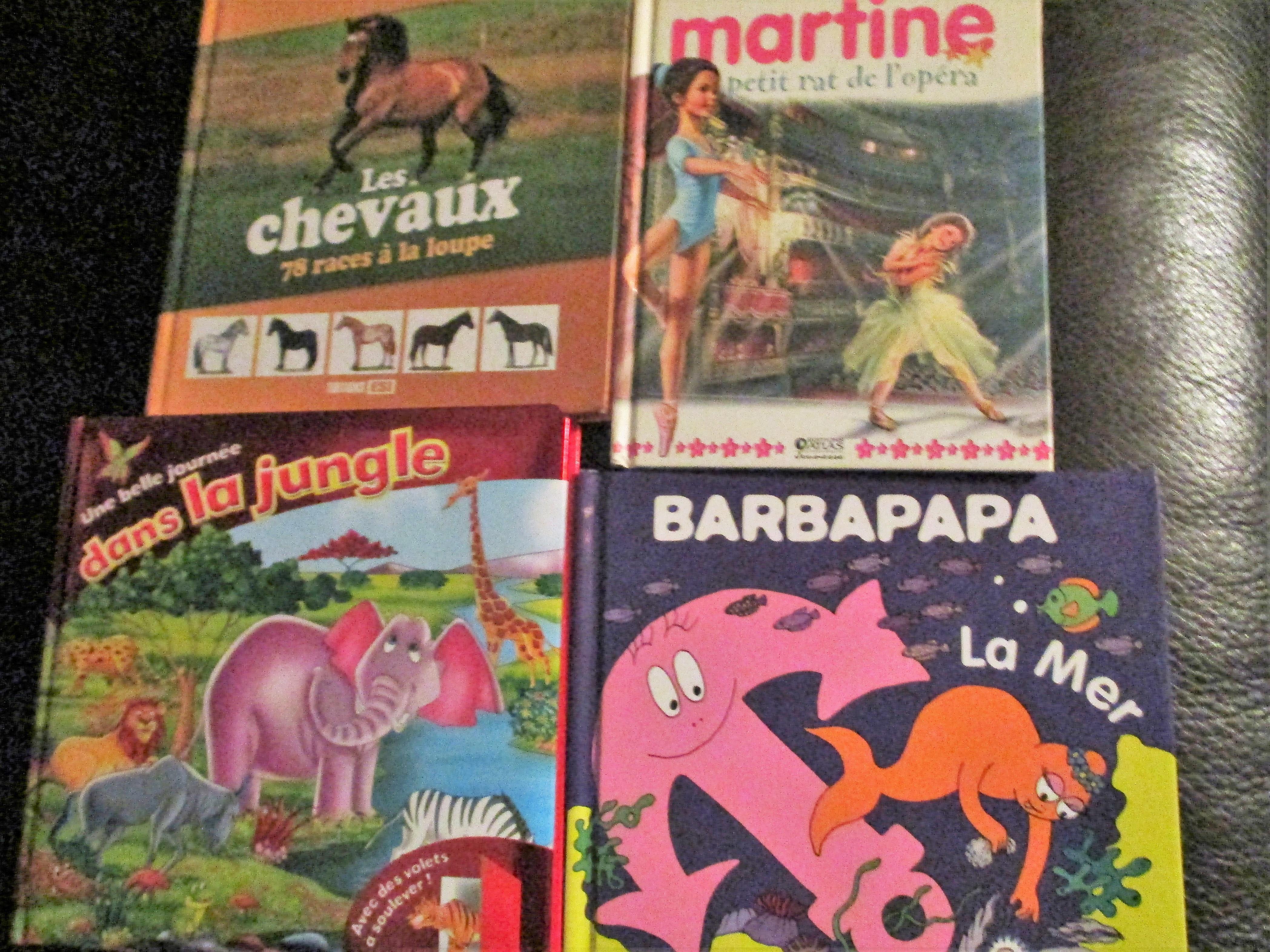 troc de troc 4 livres chevaux barbapapa martin animaux image 0