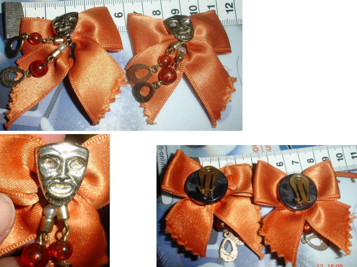 troc de troc vintage / 1980 : bo clips noeud & masque à pendeloques image 0