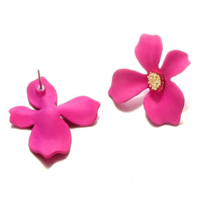 """troc de troc boucles d'oreilles """"  fleurs de bohème """" rose image 2"""