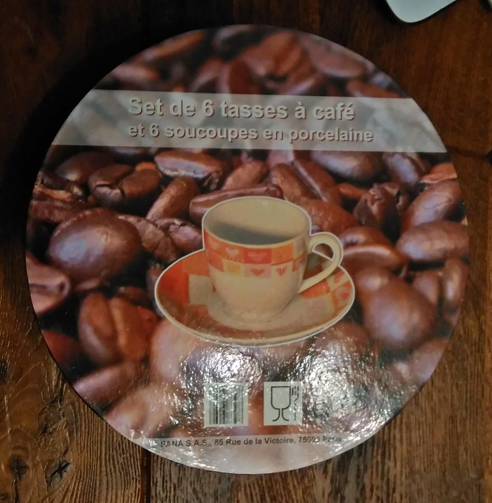 troc de troc set neuf de 6 tasses à café et soucoupes image 1