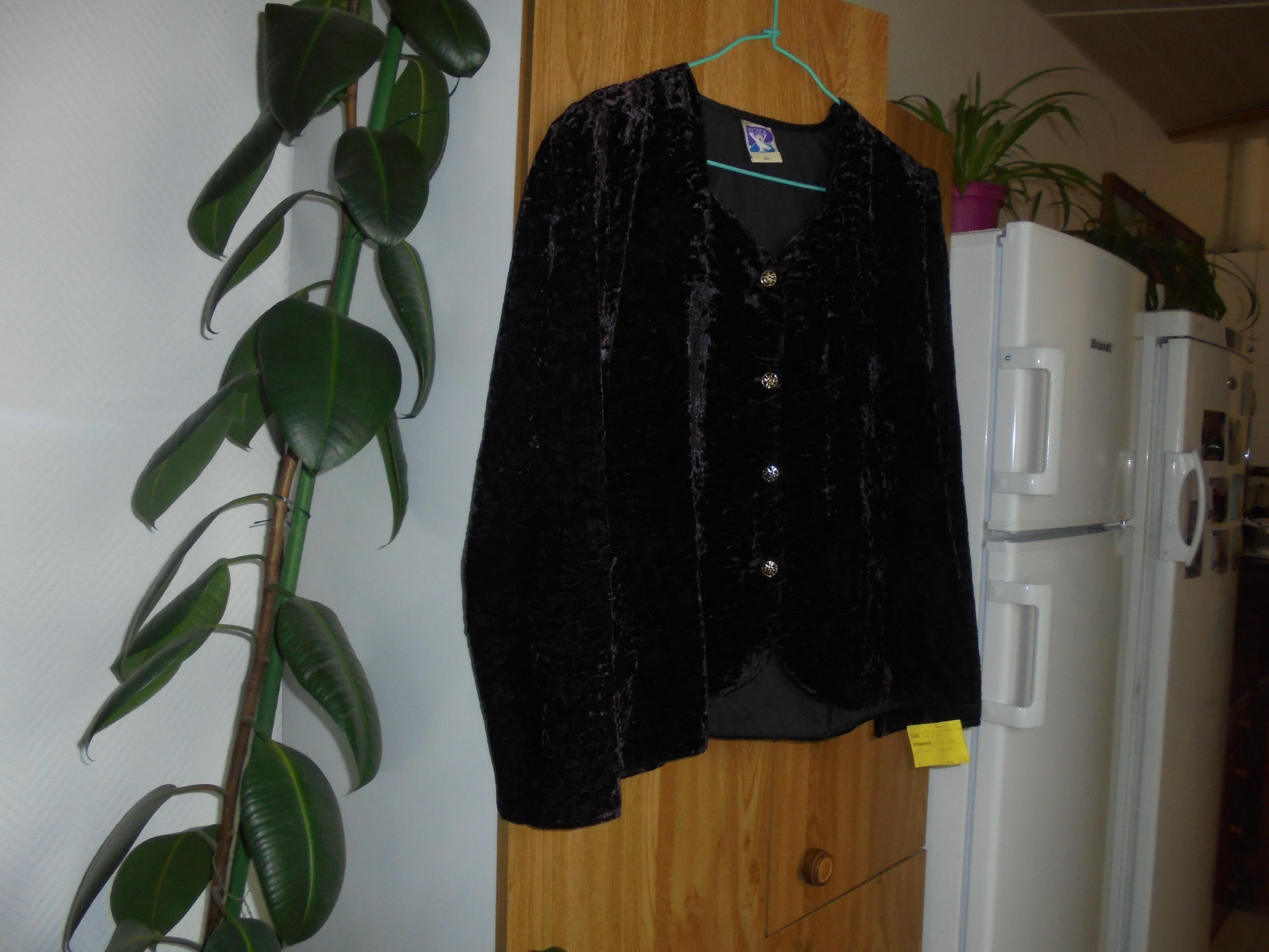 troc de troc veste en velours noire taille 42    10 noisettes   pfp image 0