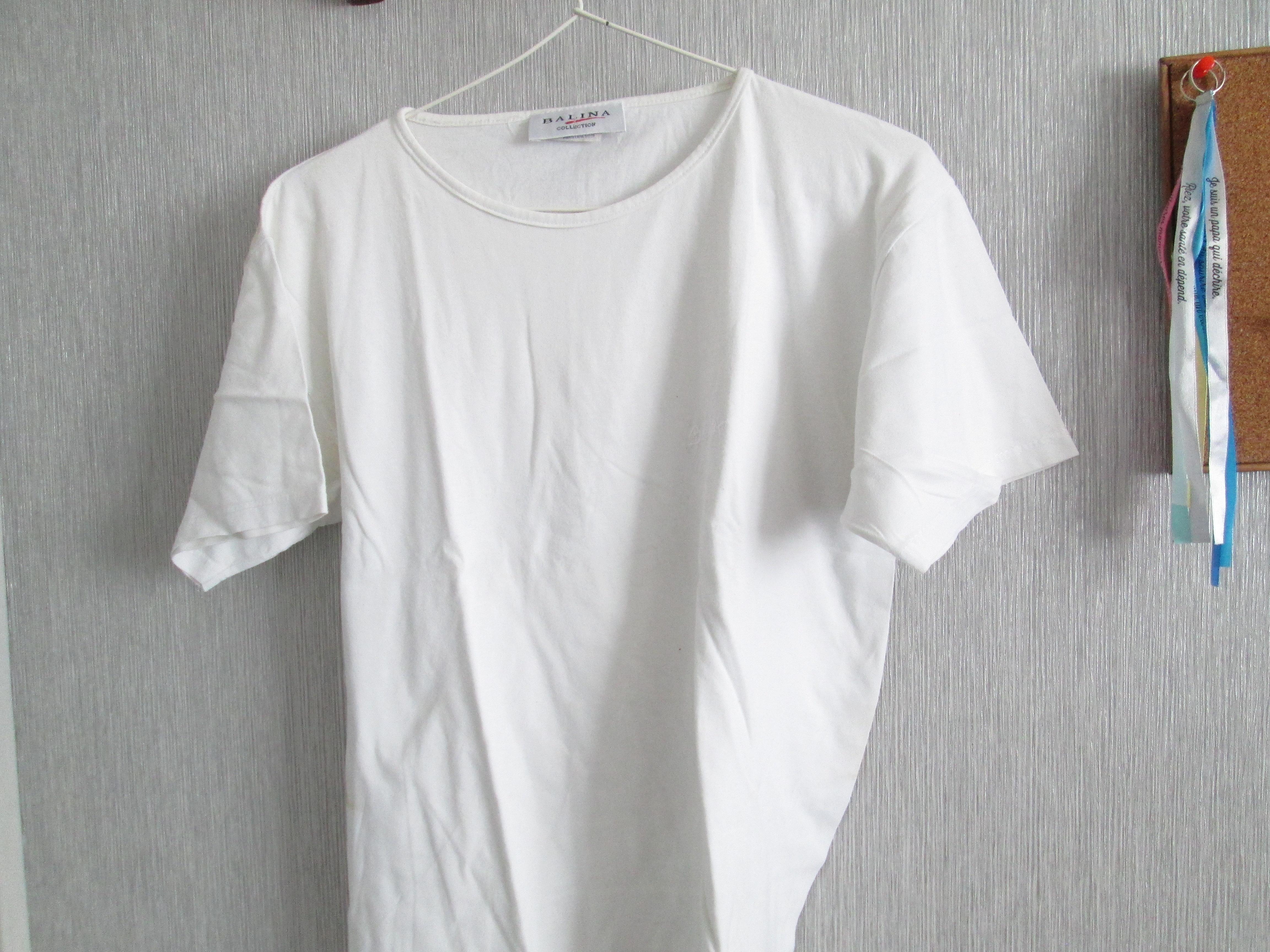troc de troc tee shirt  blanc    balina taille 38 petit dessin 5 noisettes image 0
