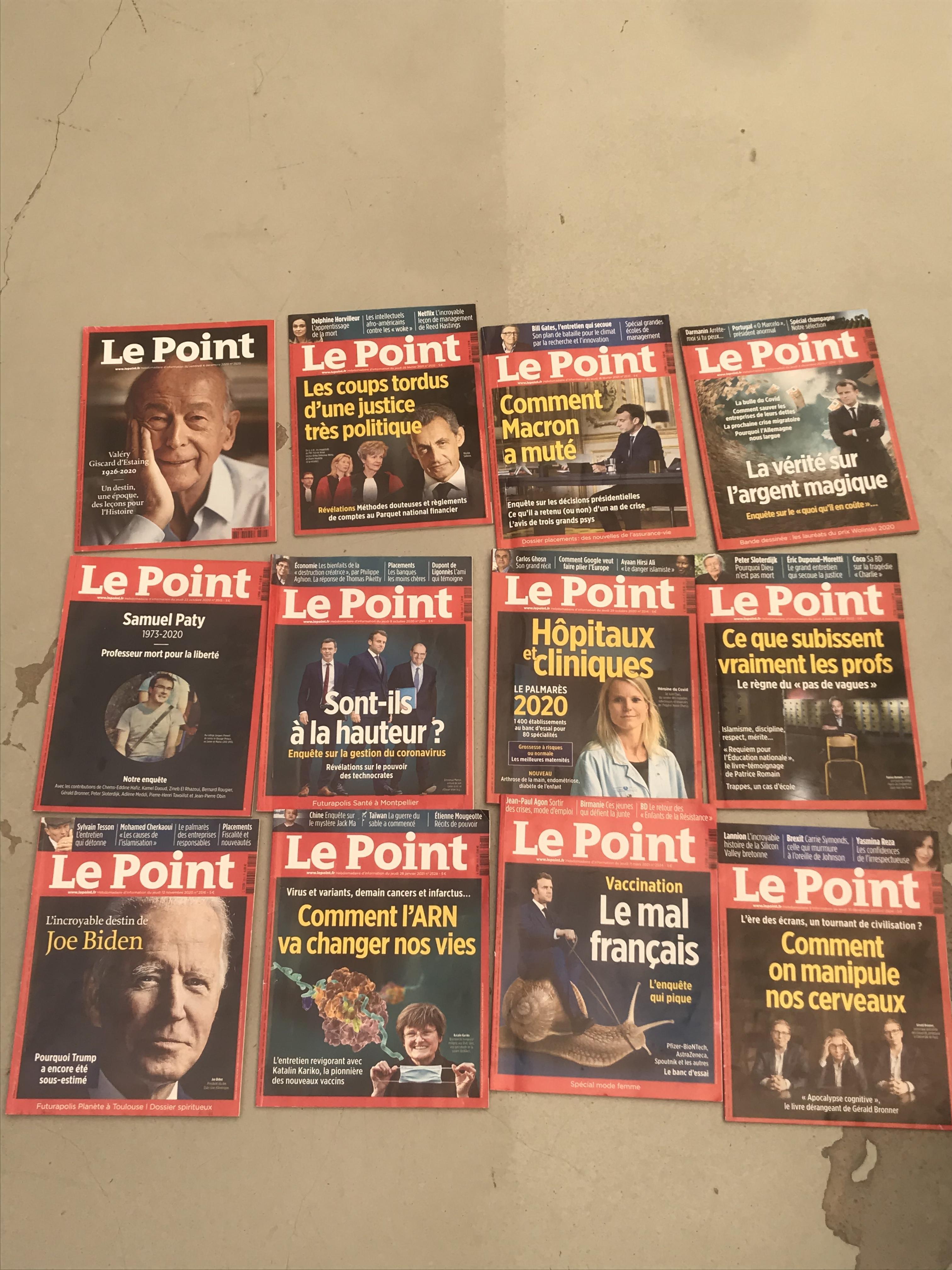 troc de troc lot de 12 magazines le point image 0