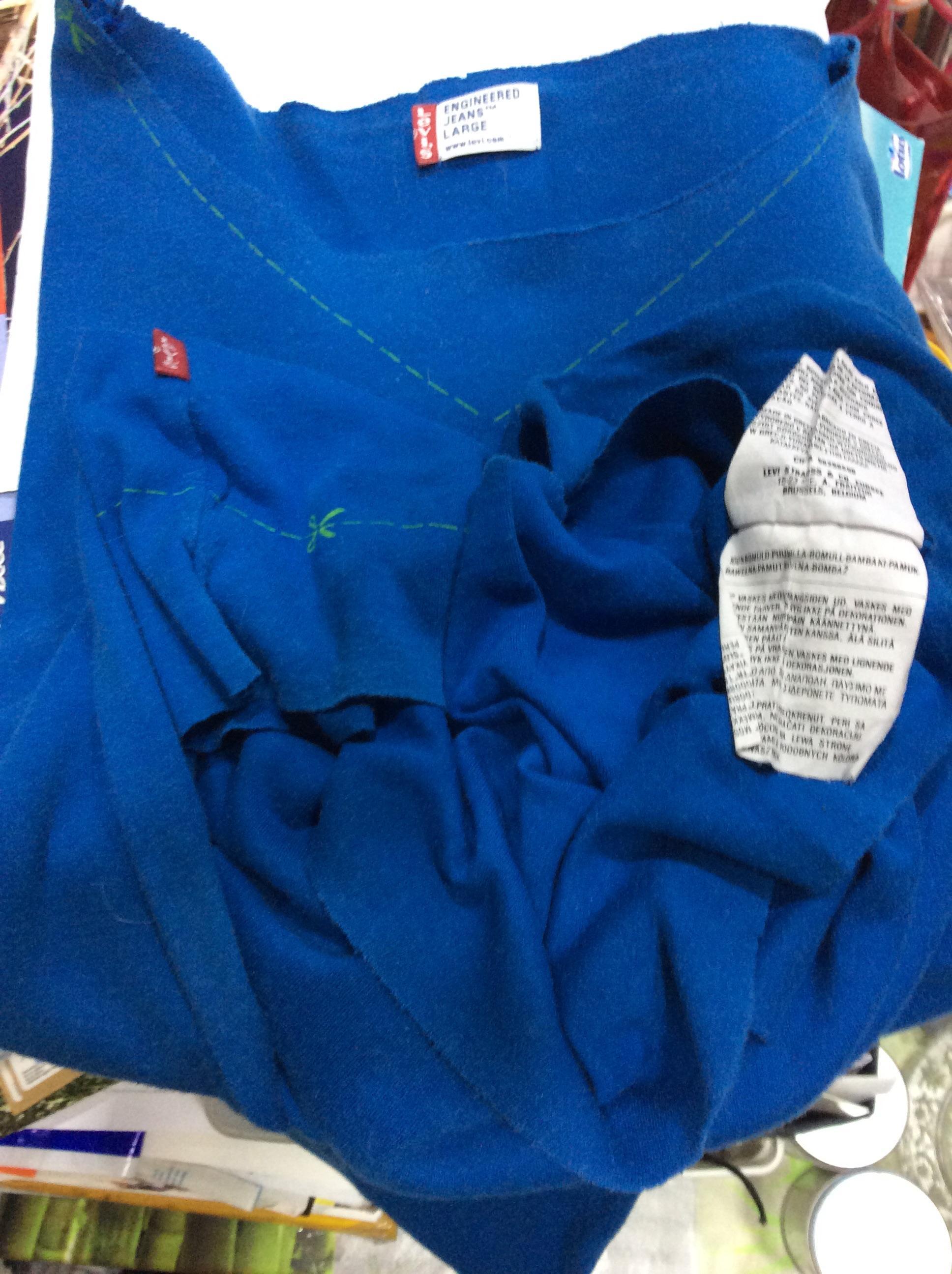 troc de troc t shirt levi's engineering jeans large années 90 manches longues image 2