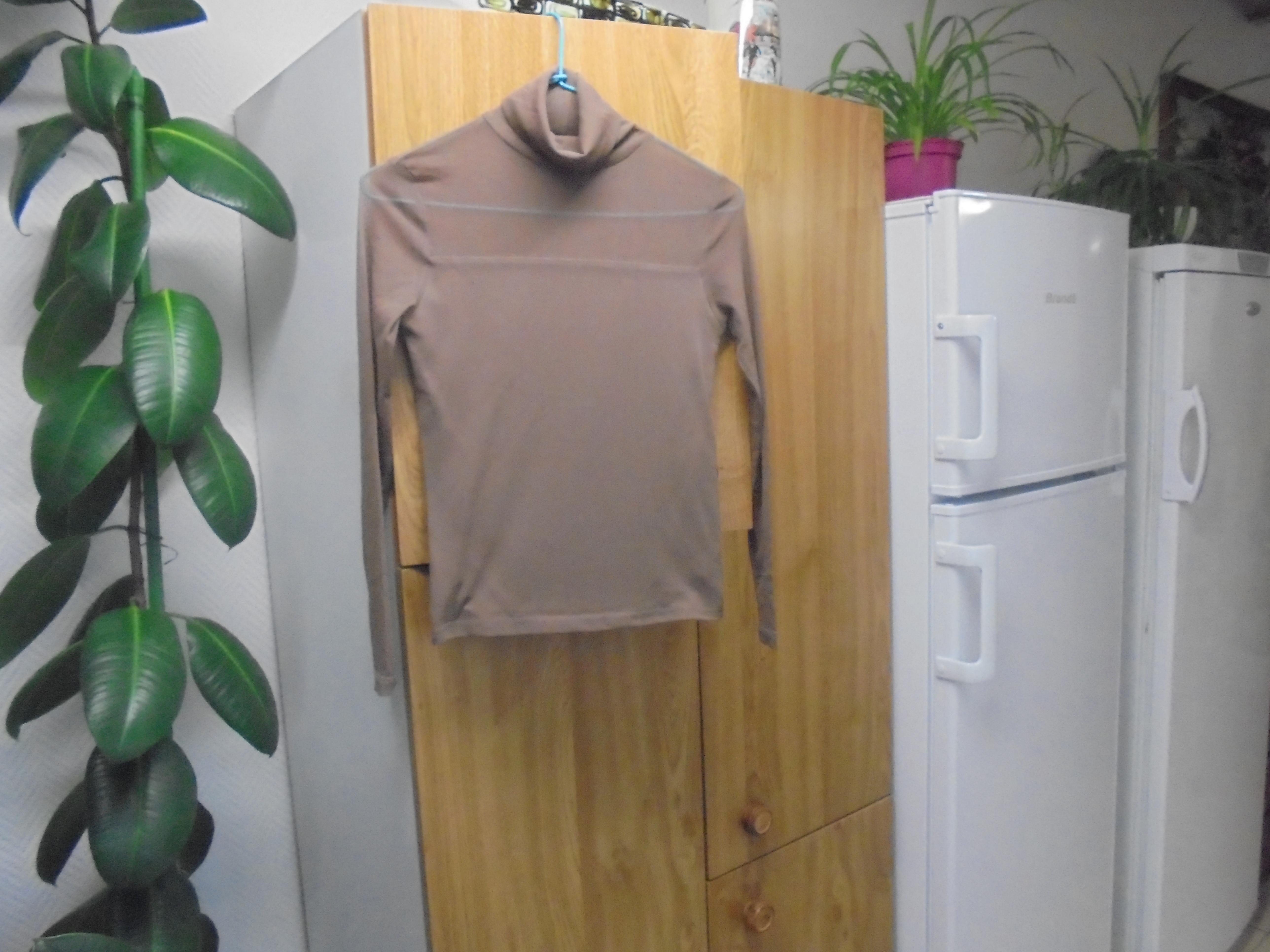 troc de troc sous pull marron empiecement trasparent  t  12 ans  5  noise image 0