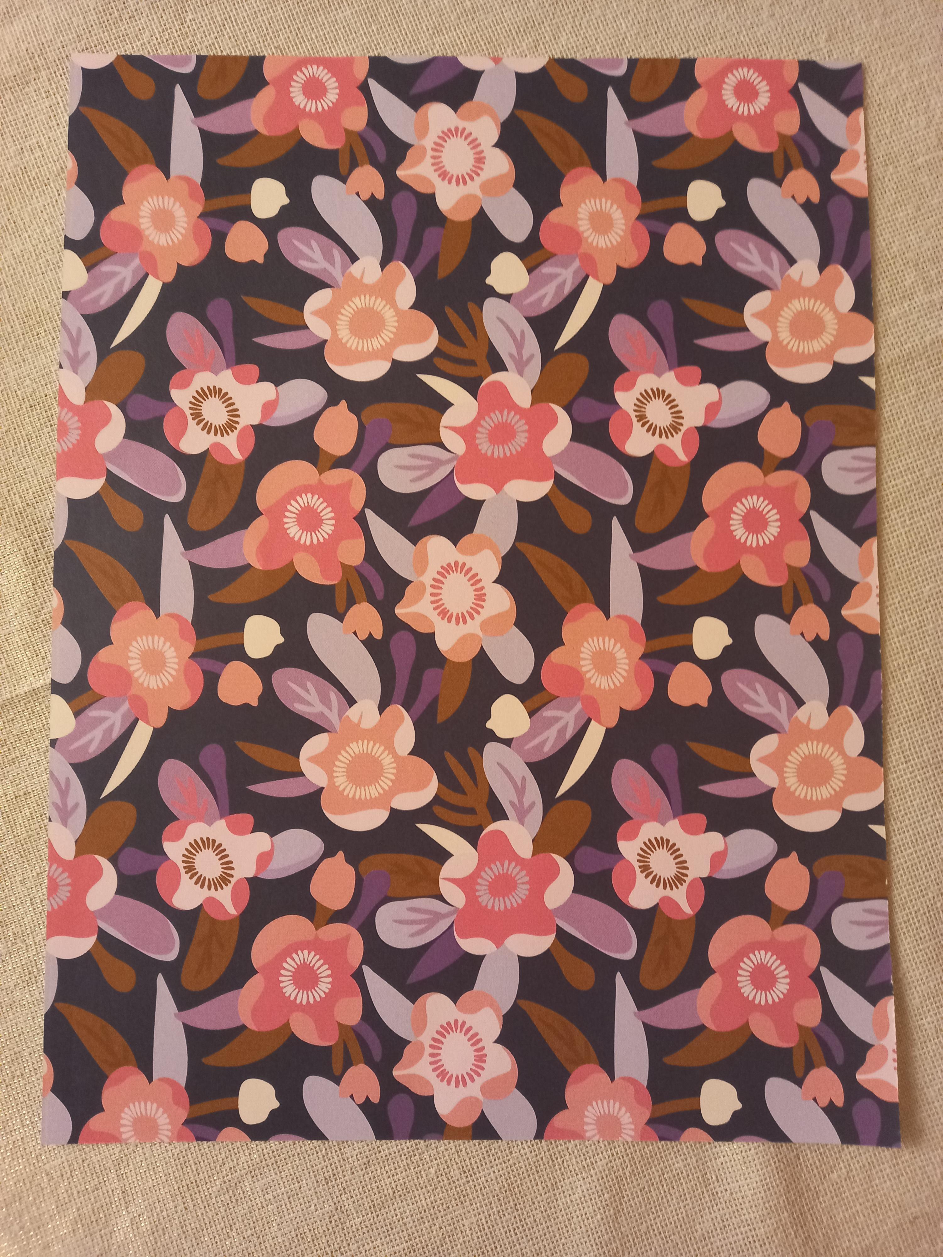 """troc de troc affiche """"bouquet de fleurs"""". image 1"""