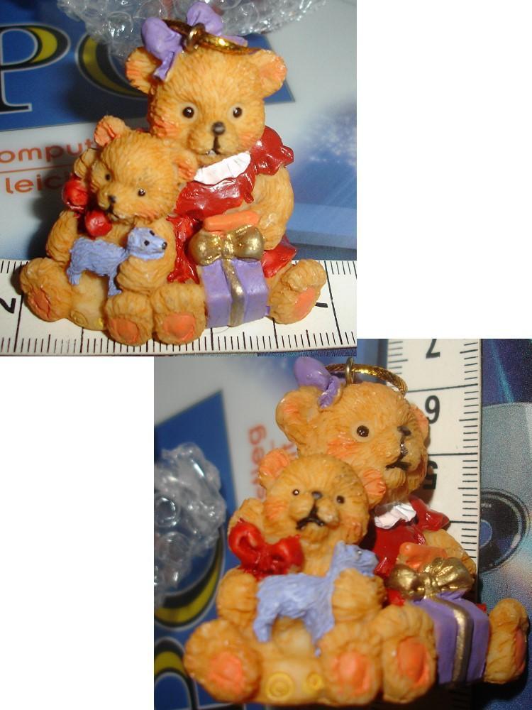 troc de troc oursonne & ourson avec cadeaux à poser ou suspendre neuf image 0