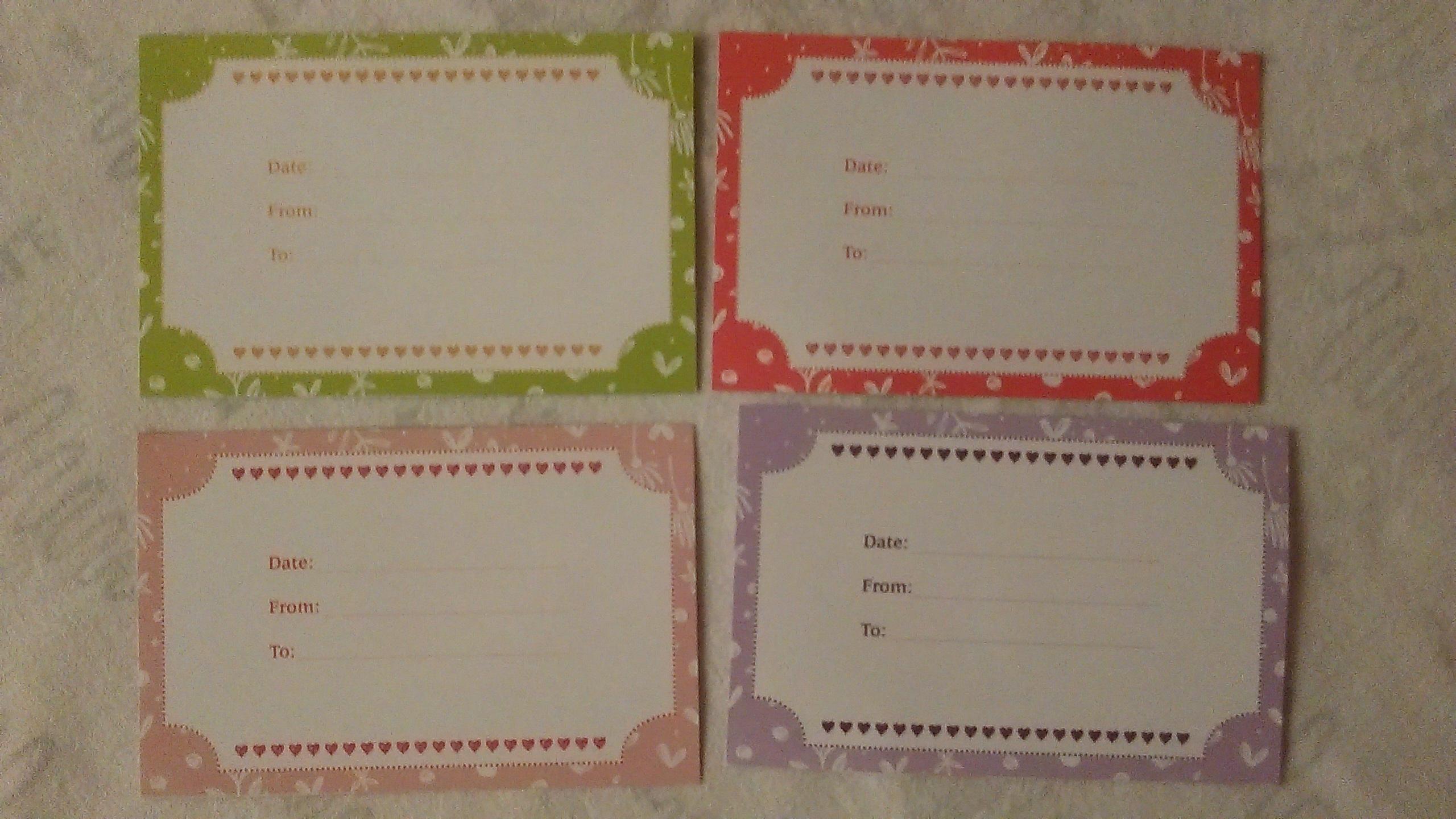 troc de troc 4 cartes-bons recto/verso. image 1