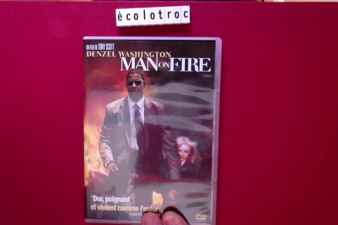 troc de troc port compris - dvd man on fire - comme neuf - sans boitier image 0