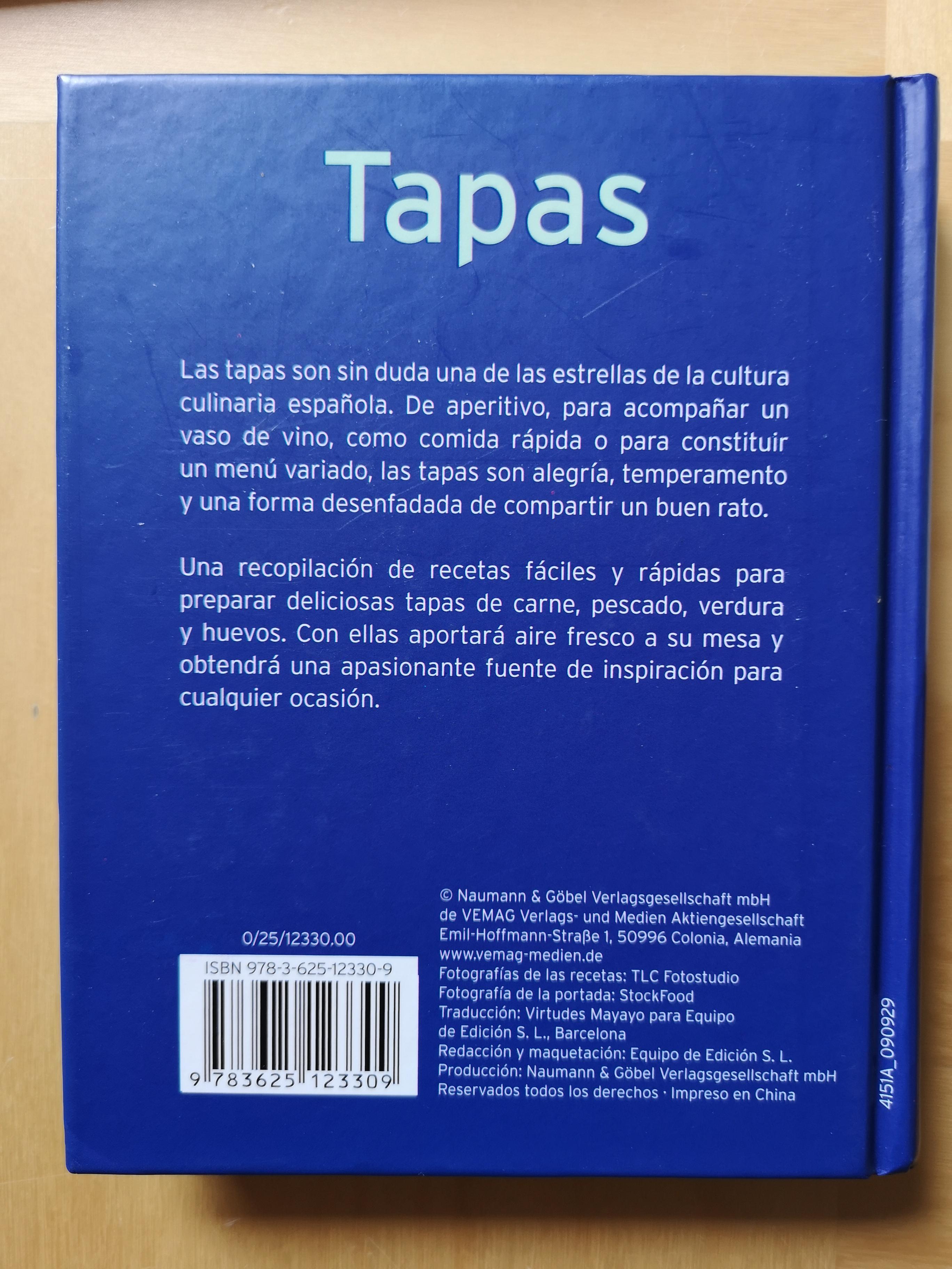 troc de troc livre sur les tapas ( en langue espagnole) image 1
