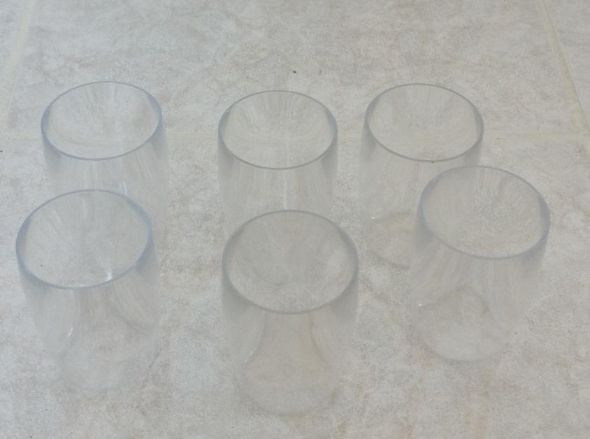 troc de troc lot de 6 verrines réutilisables plastic dur et épais image 0