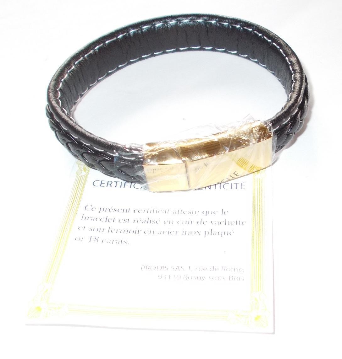 troc de troc réservé - bracelet en cuir noir image 2