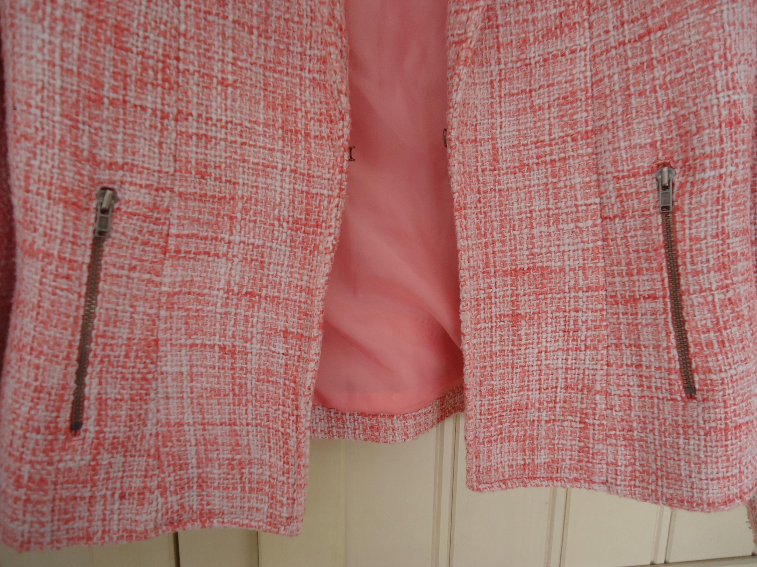 troc de troc veste tailleur rose chinée taille 38 image 2