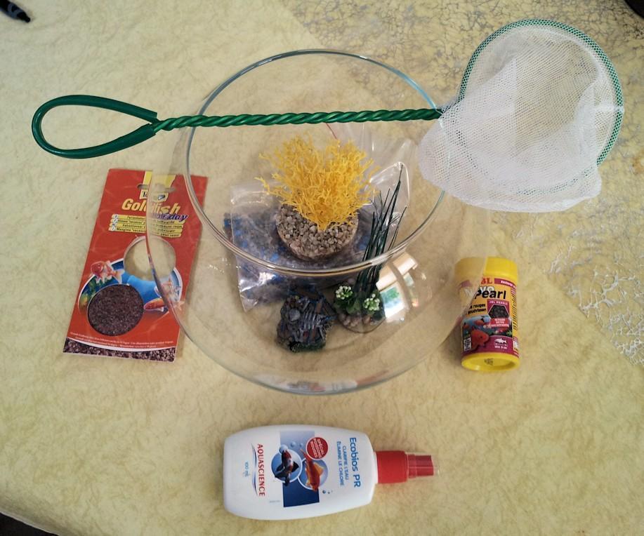 troc de troc kit néccessaire complet aquarium boule zolux 7 l image 0
