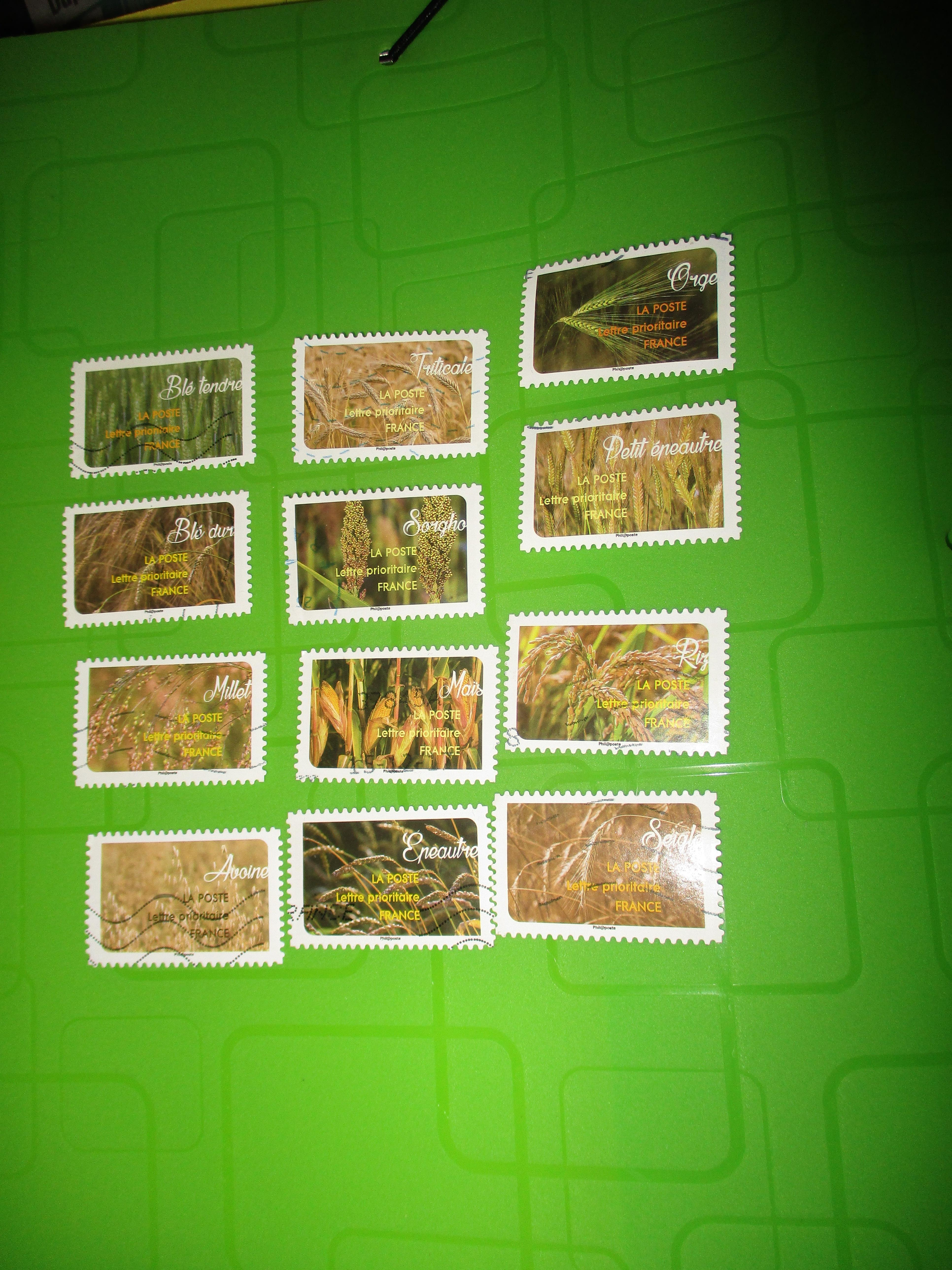 troc de troc 12 timbres céréales image 0